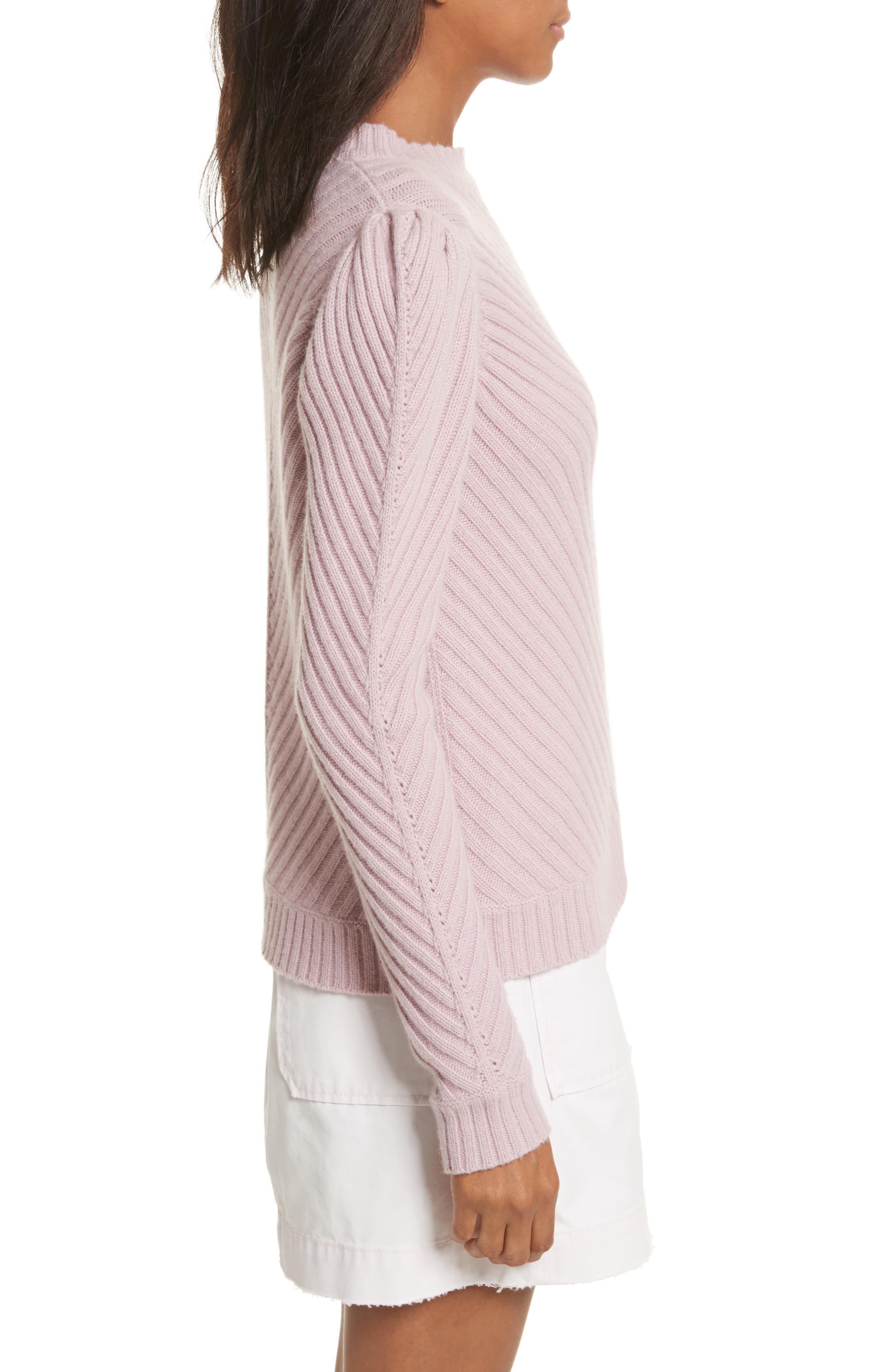 Ribbed Knit Pullover,                             Alternate thumbnail 3, color,