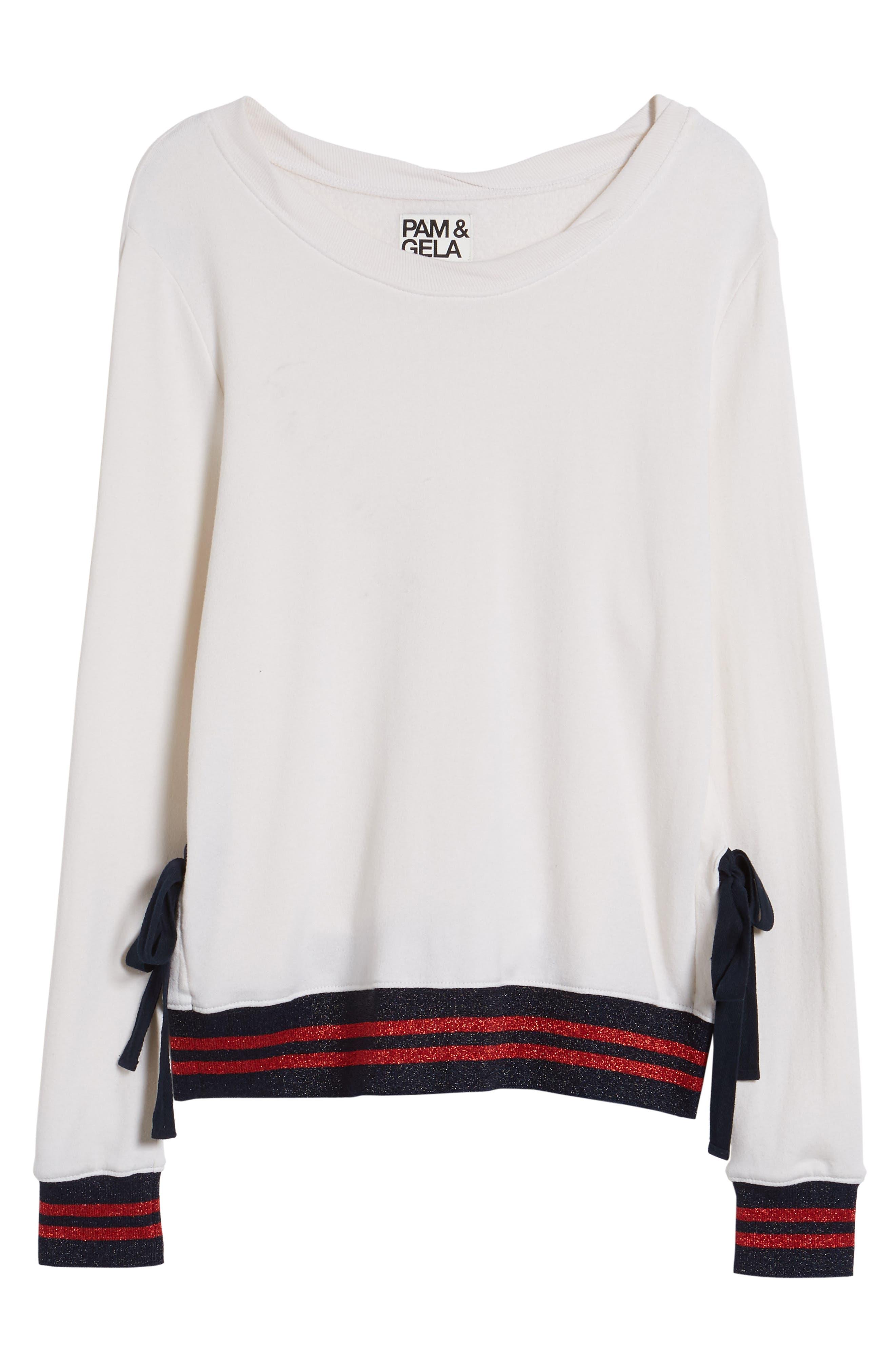 Side Slit Sweatshirt,                             Alternate thumbnail 6, color,                             118