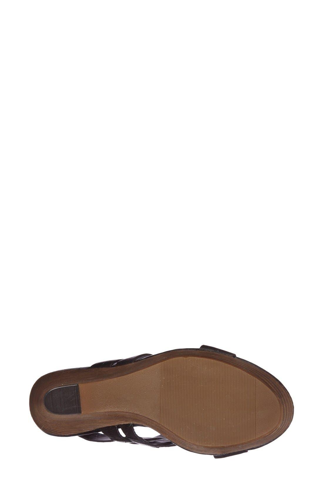 SOLE SOCIETY,                             'Jenny' Slingback Wedge Sandal,                             Alternate thumbnail 3, color,                             001
