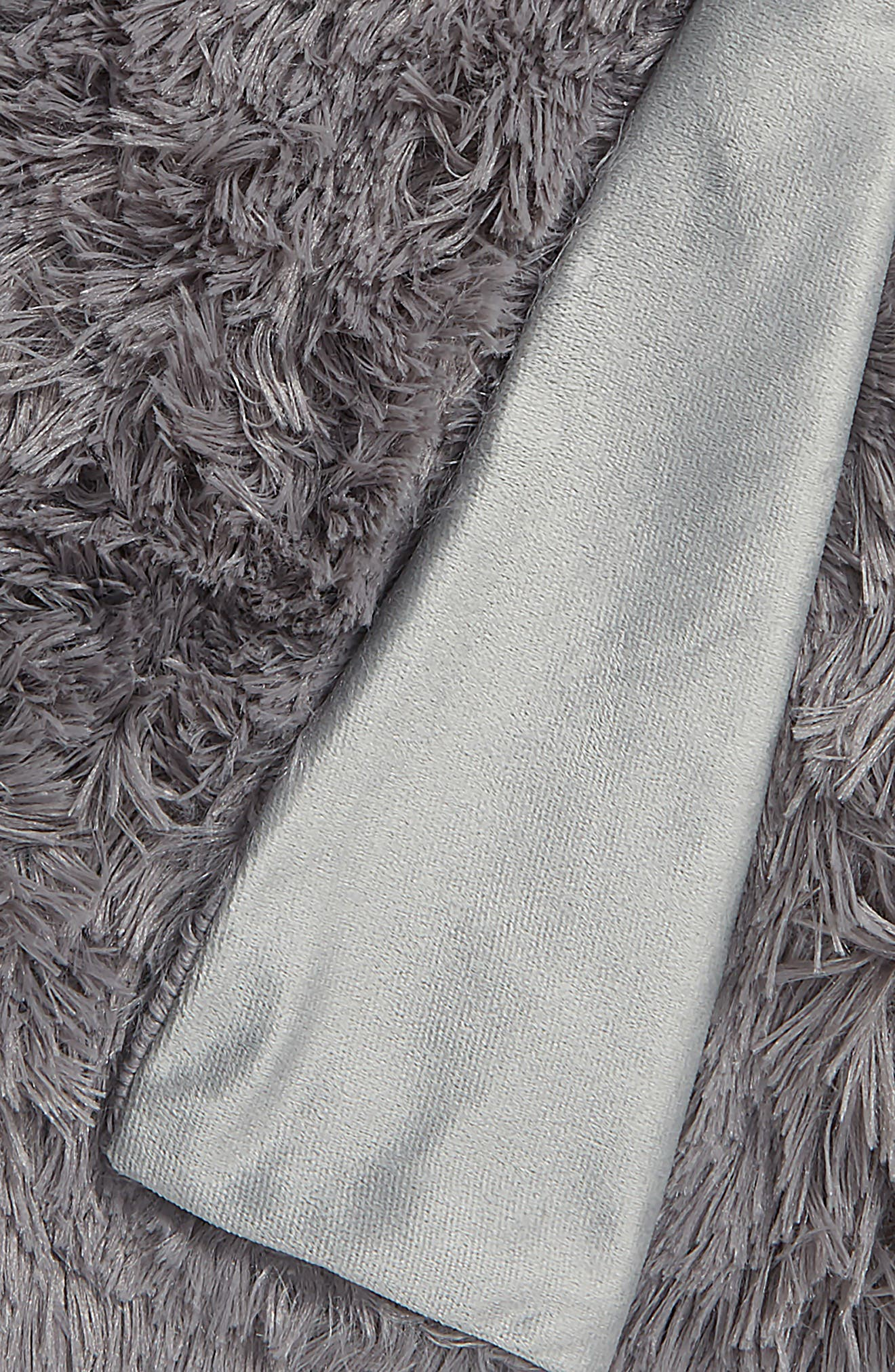 Feather Throw,                             Alternate thumbnail 2, color,                             GREY FROST