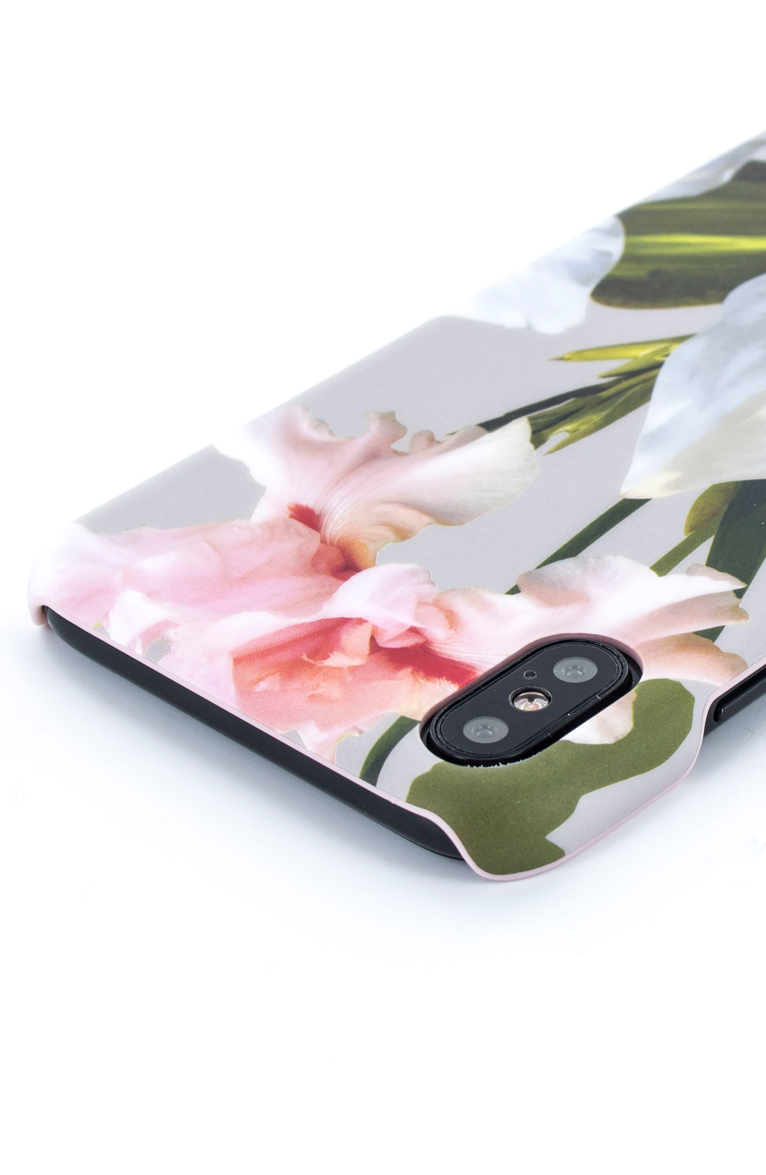 Sid Chatsworth Bloom iPhone X & Xs Case,                             Alternate thumbnail 3, color,                             GREY