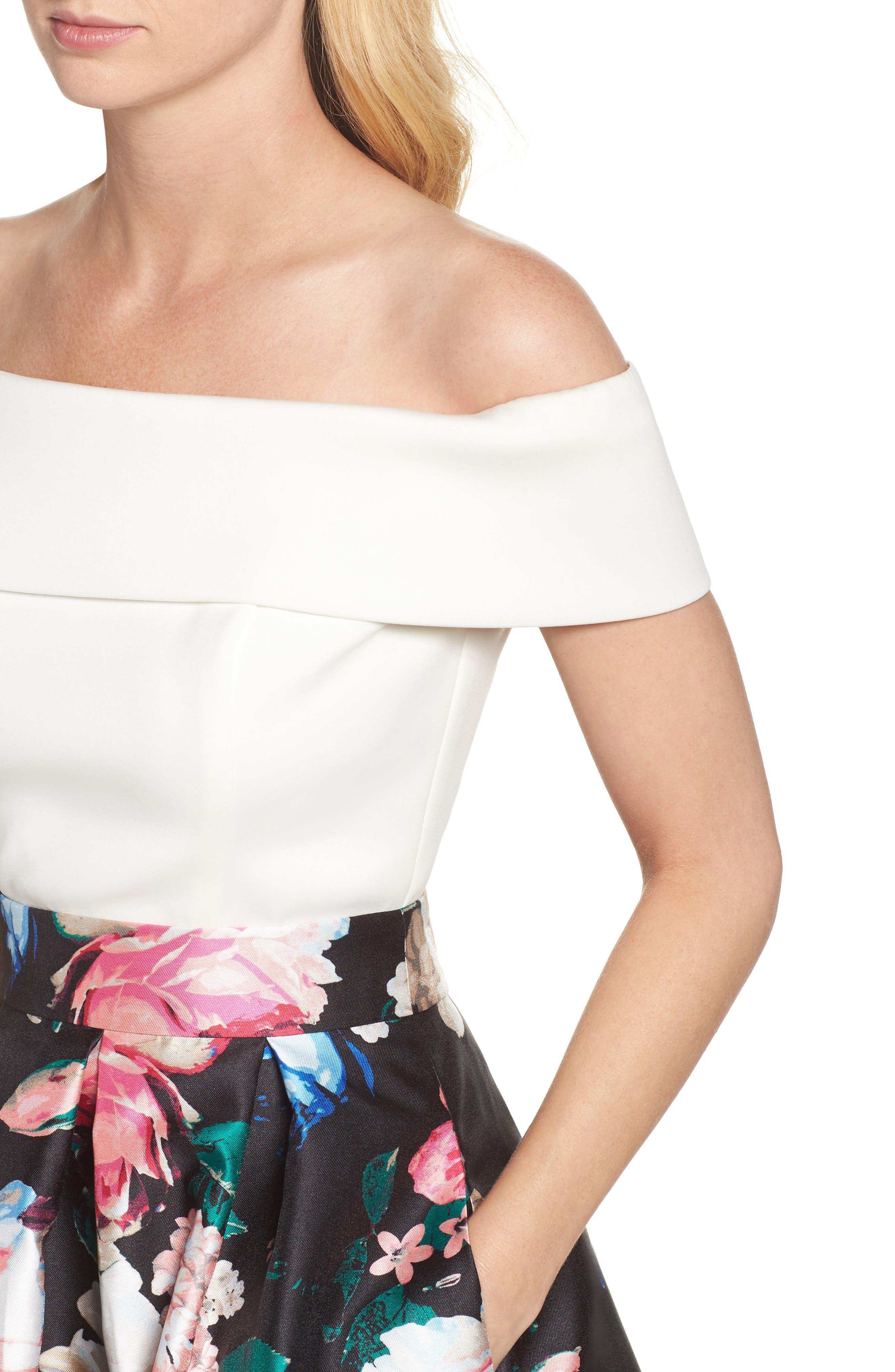 Faille Ball Skirt,                             Alternate thumbnail 4, color,                             006