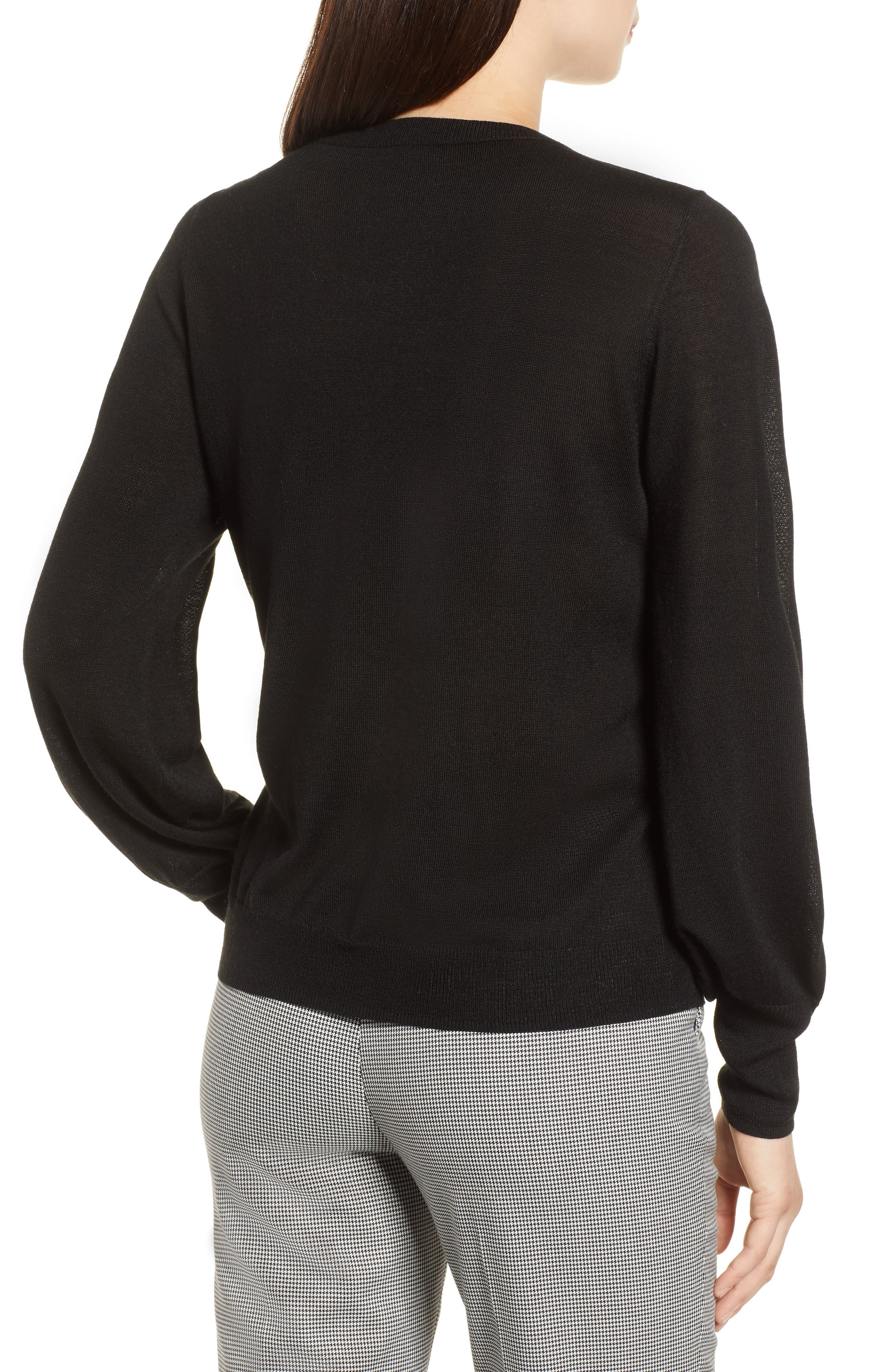 Puff Sleeve Sweater,                             Alternate thumbnail 12, color,
