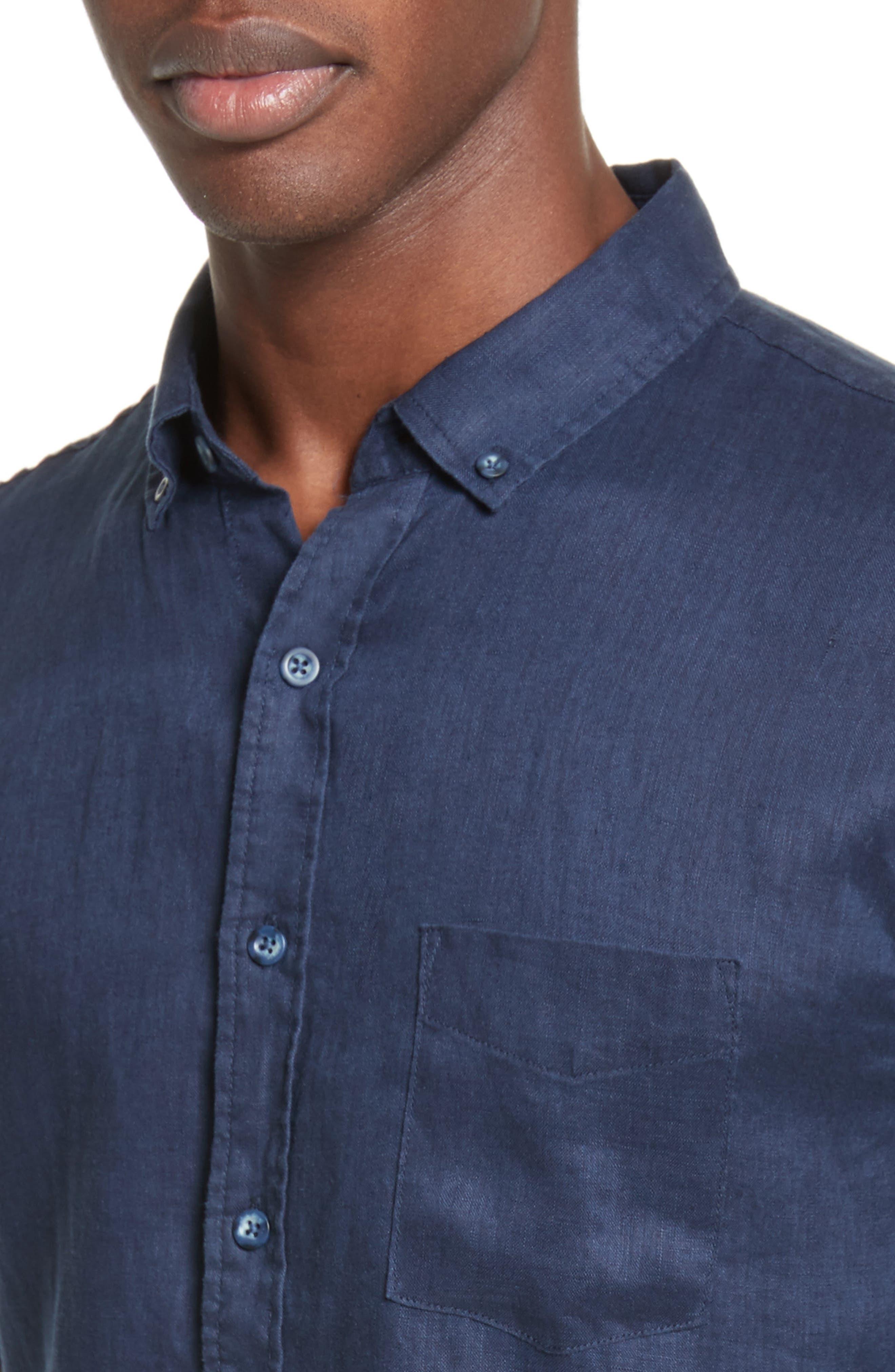 Jack Linen Sport Shirt,                             Alternate thumbnail 4, color,                             419