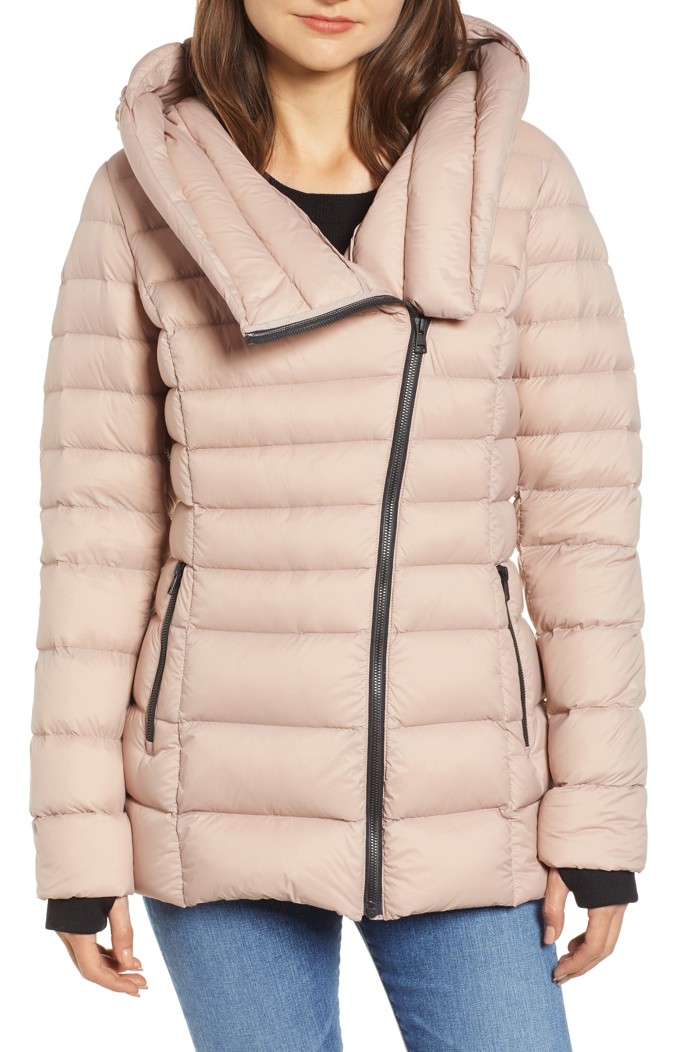 Hooded Down Puffer Jacket, Main, color, QUARTZ