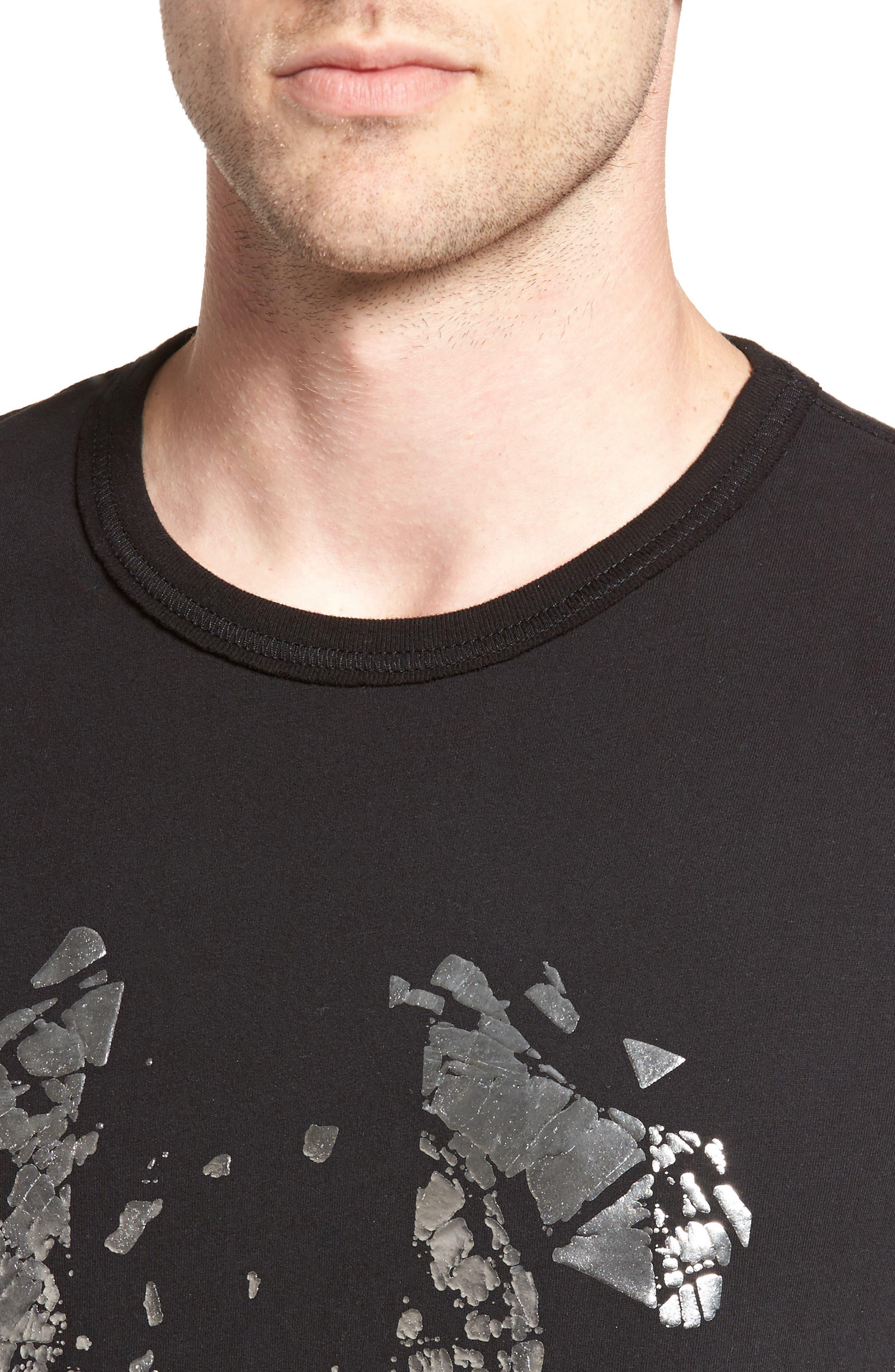 Metallic Logo T-Shirt,                             Alternate thumbnail 4, color,                             001