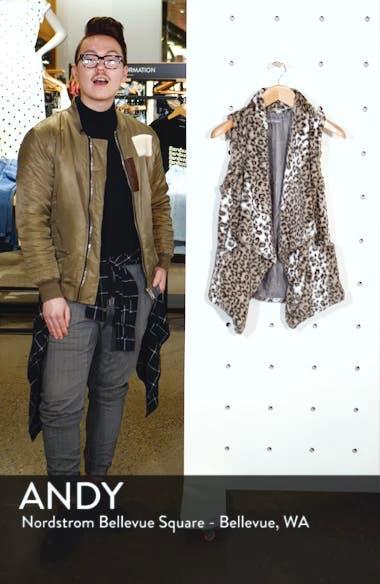 Draped Faux Leopard Fur Vest, sales video thumbnail