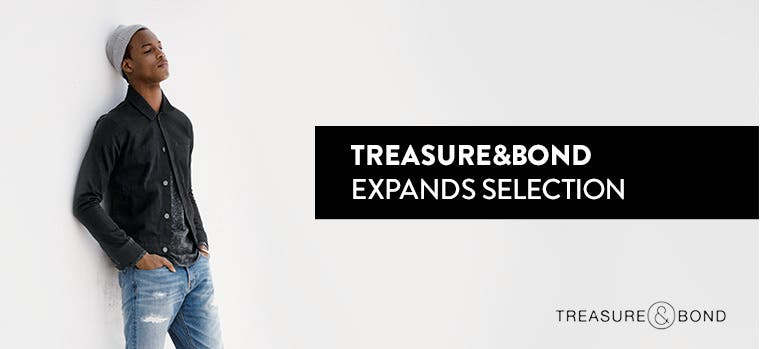 Treasure&Bond expands selection.
