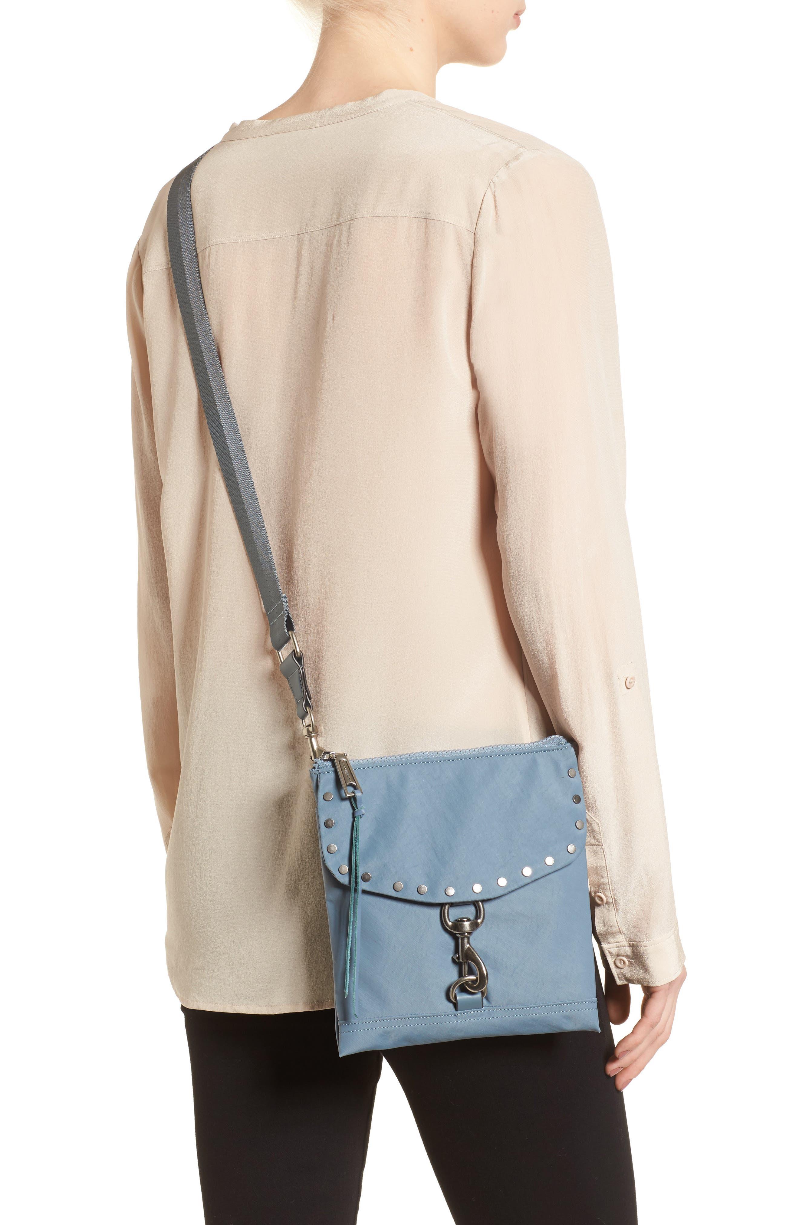 Nylon Flap Crossbody Bag,                             Alternate thumbnail 10, color,