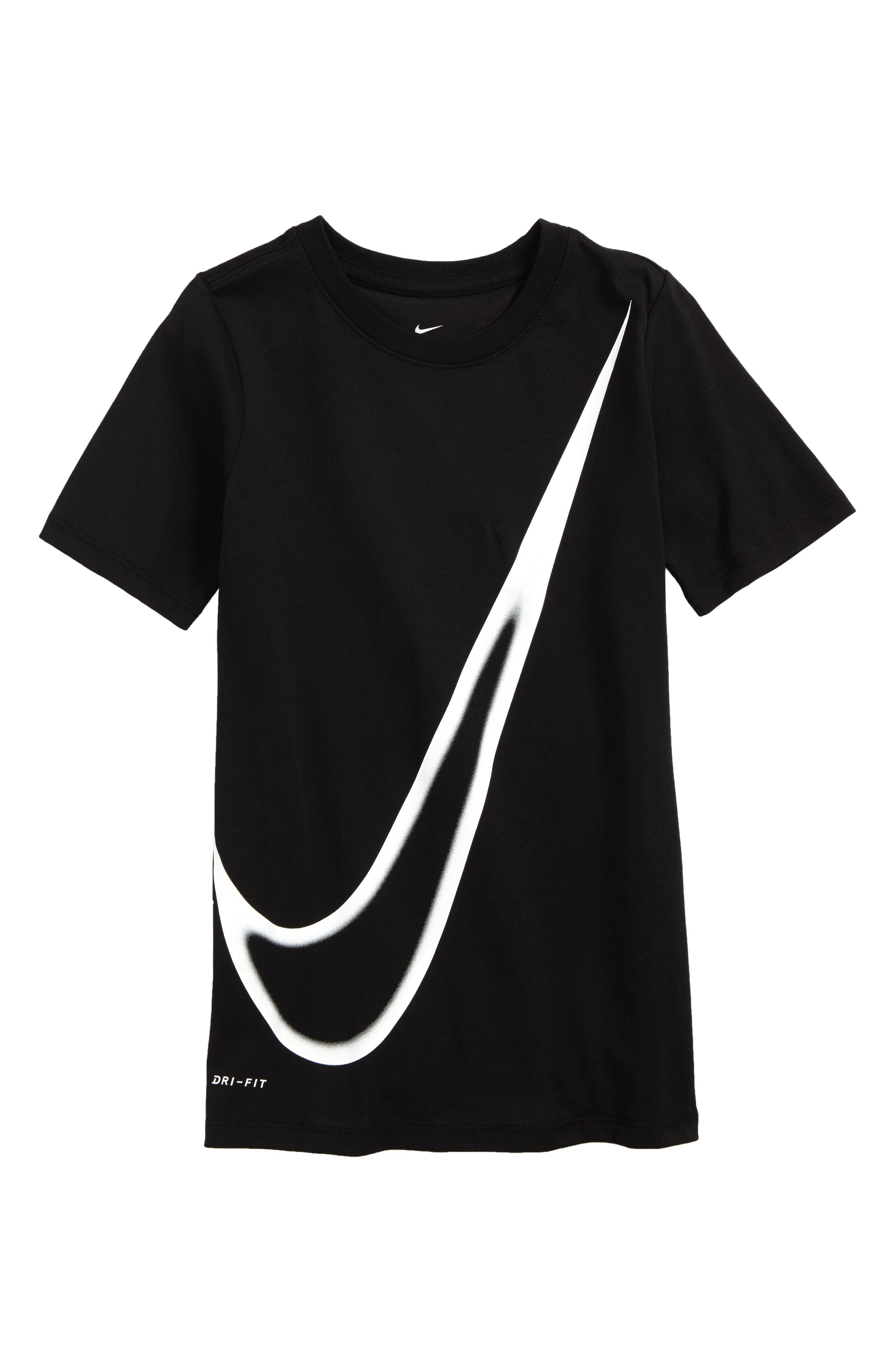 Dry Big Swoosh Graphic T-Shirt,                             Main thumbnail 1, color,                             010