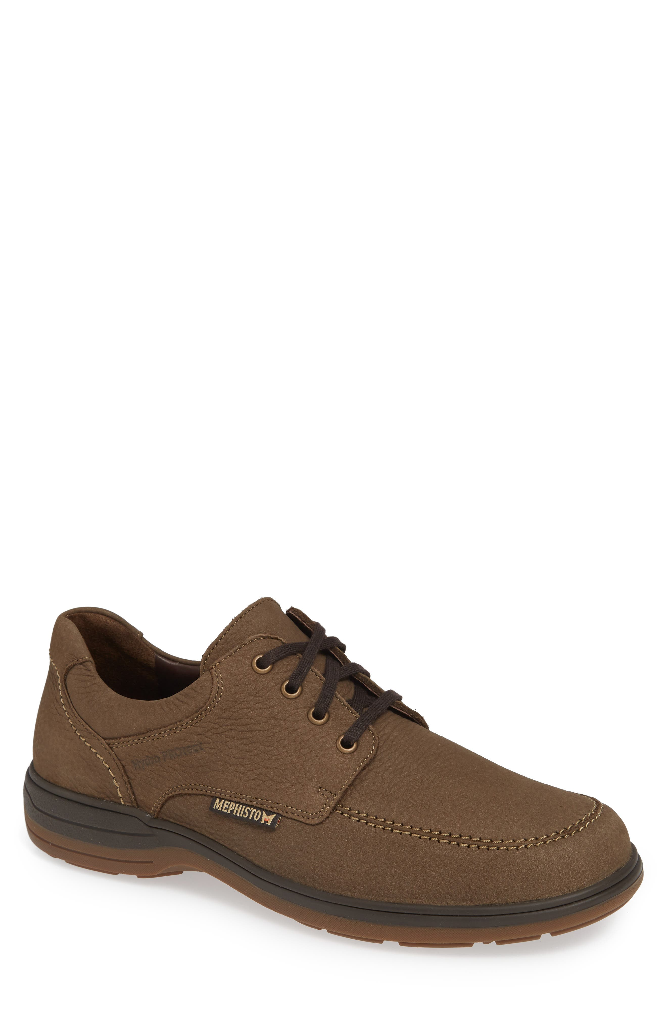 Douk HydroProtect Waterproof Moc Toe Derby,                             Main thumbnail 1, color,                             CAMEL SPORTBUCK