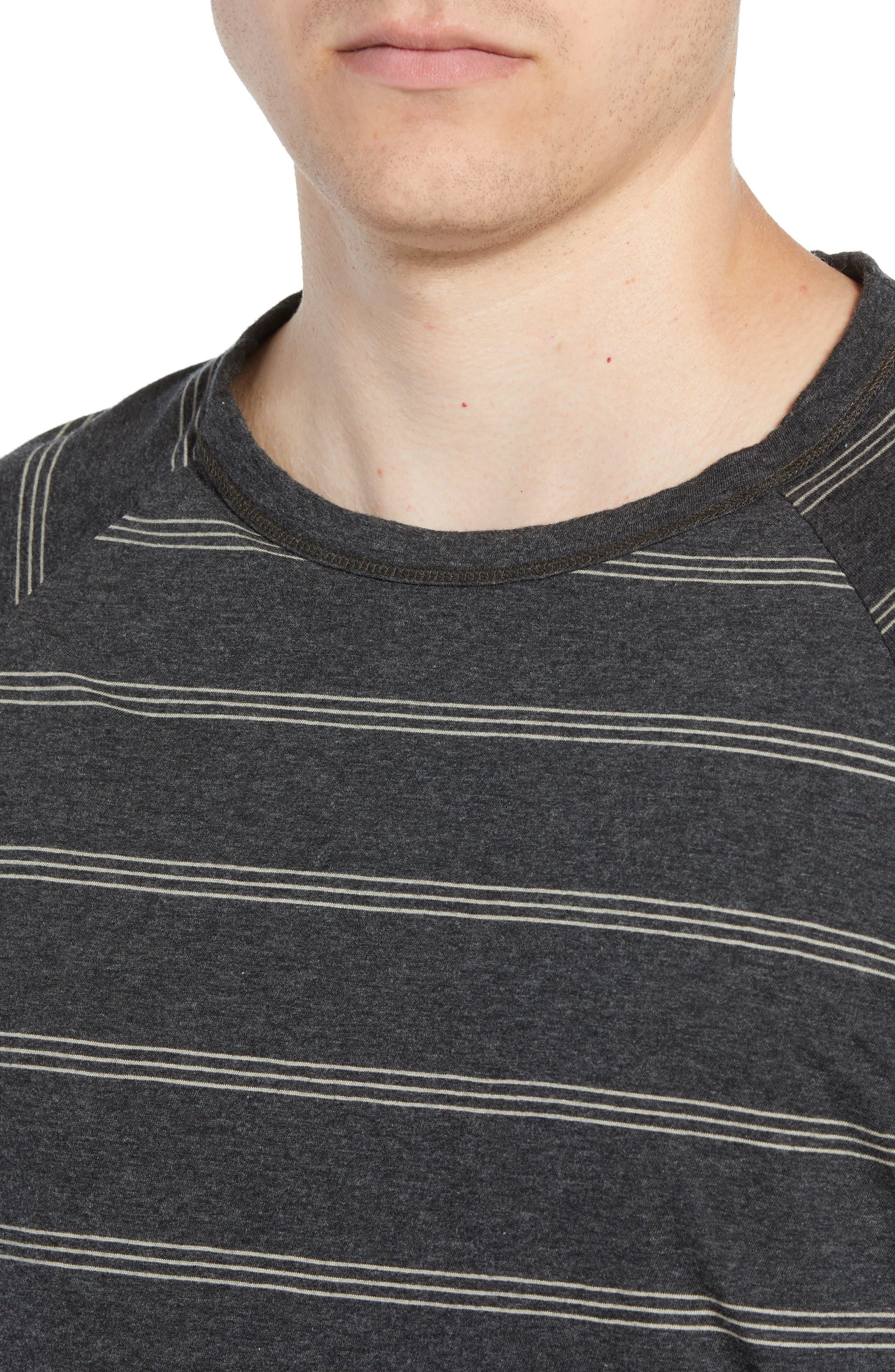 Gunnison Reversible Raglan Sleeve T-Shirt,                             Alternate thumbnail 5, color,                             PHANTOM HEATHER