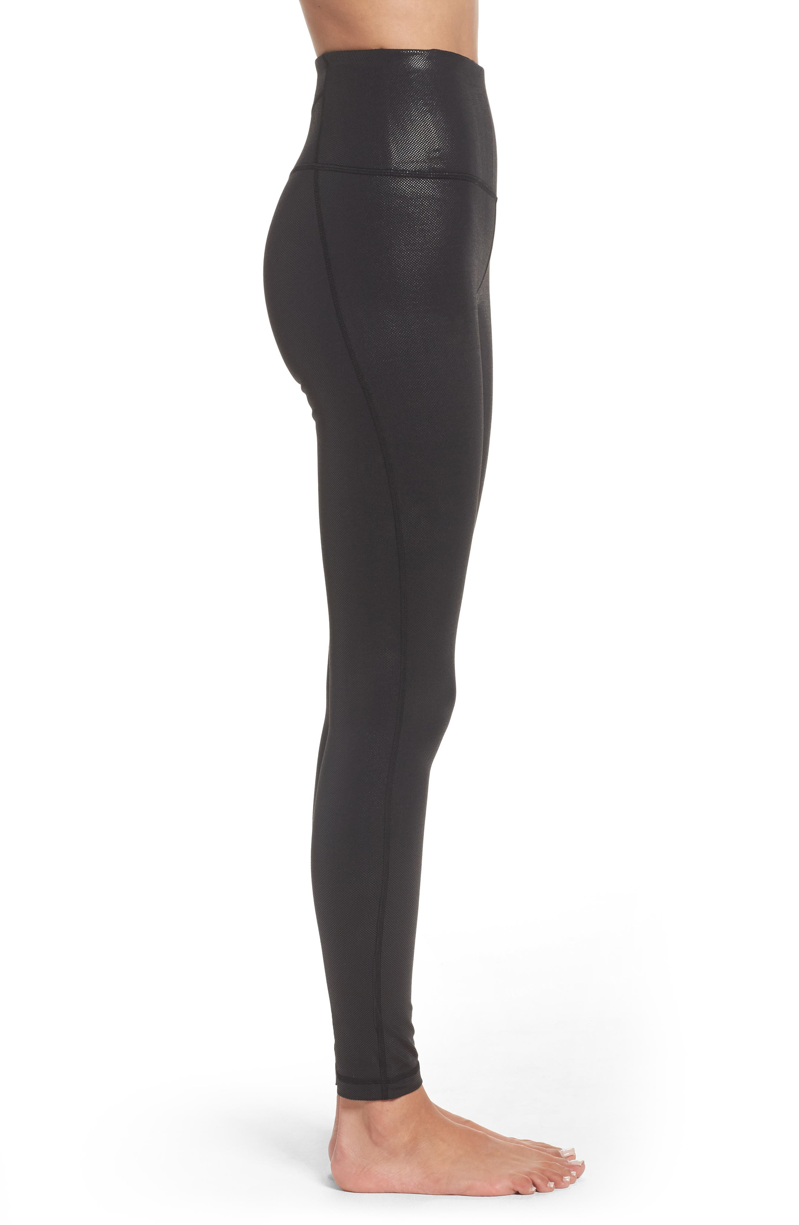 Live-In High Waist Leggings,                             Alternate thumbnail 3, color,                             002