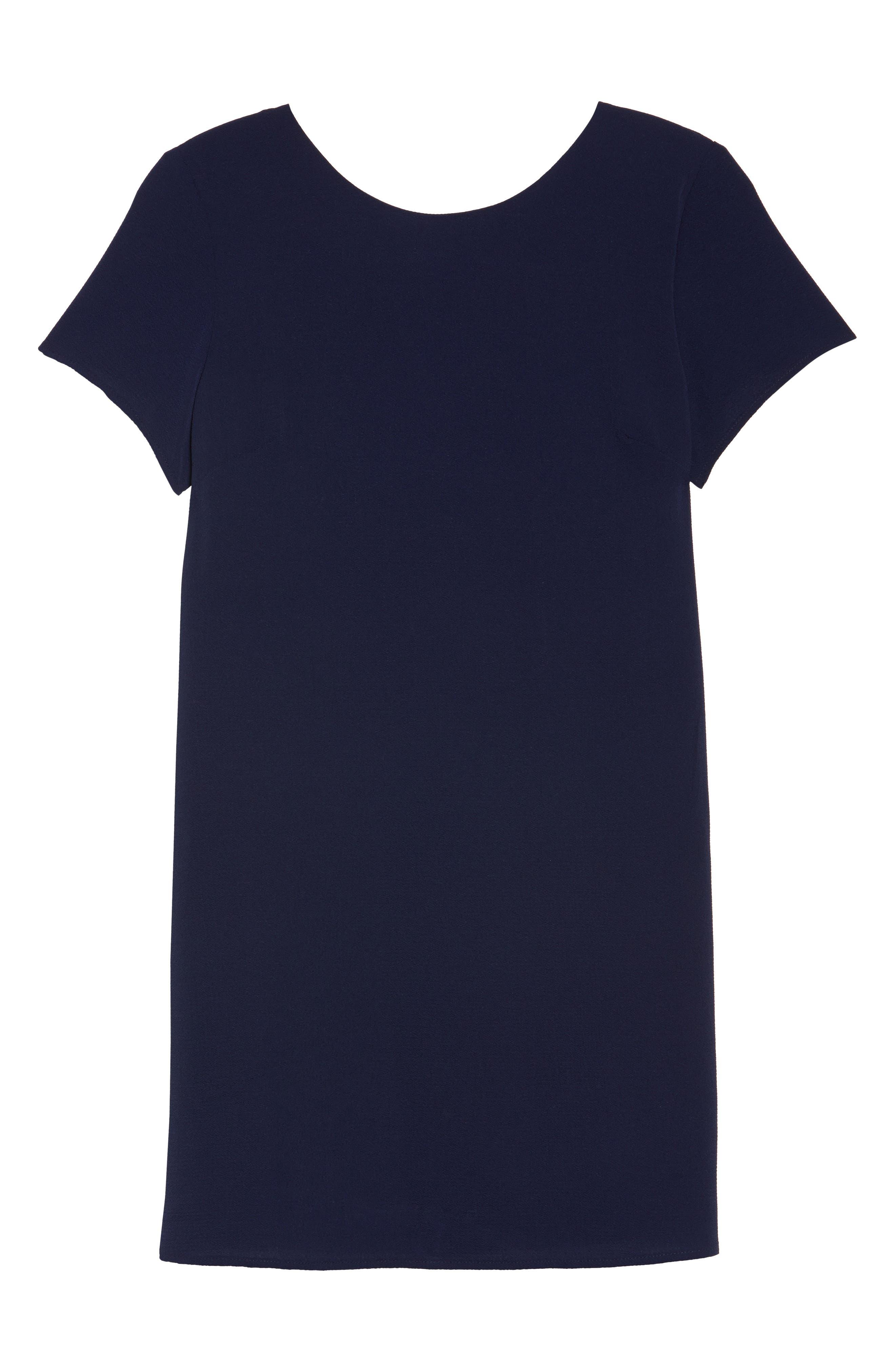 V-Back Shift Dress,                             Alternate thumbnail 7, color,                             410