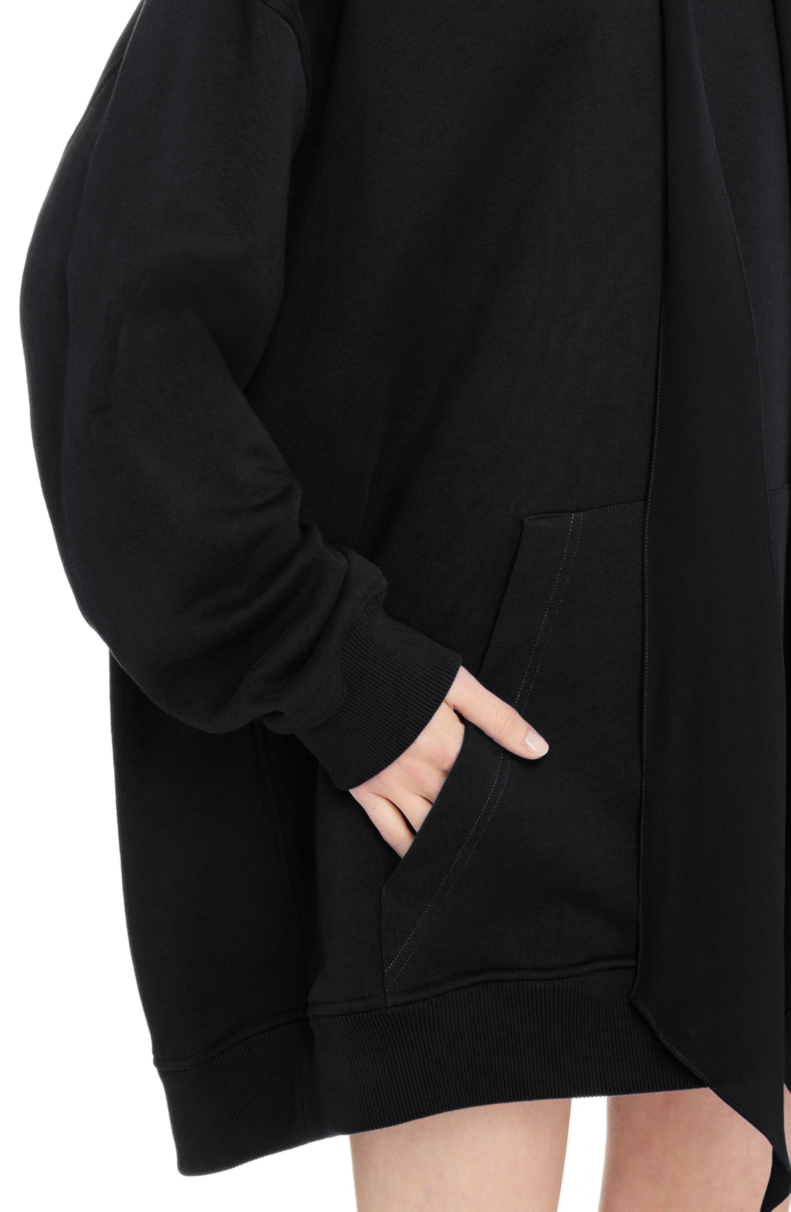 Oversize Logo Sweatshirt,                             Alternate thumbnail 4, color,                             BLACK