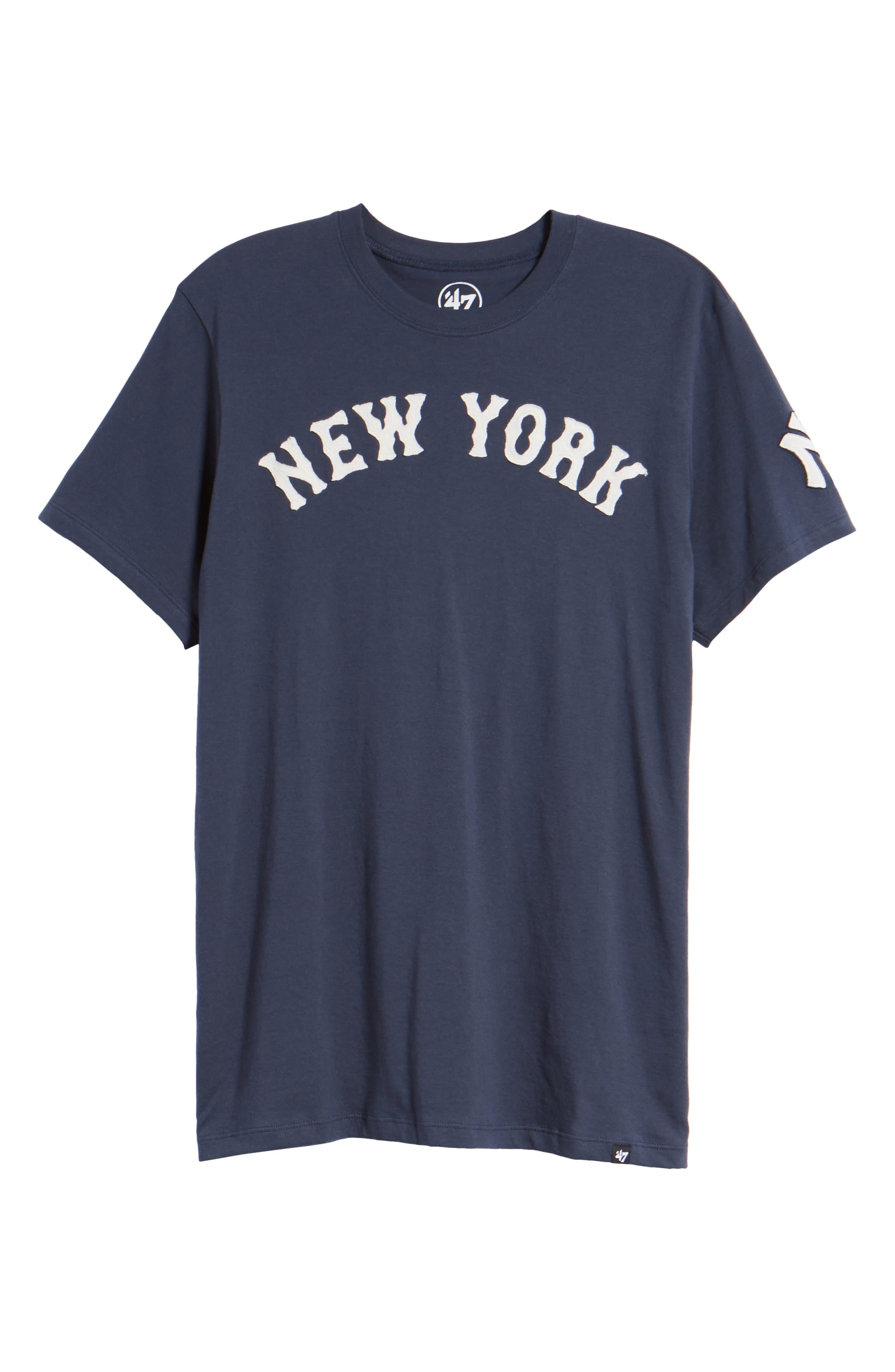 MLB Vintage Fieldhouse New York Yankees T-Shirt,                             Alternate thumbnail 6, color,                             MIDNIGHT