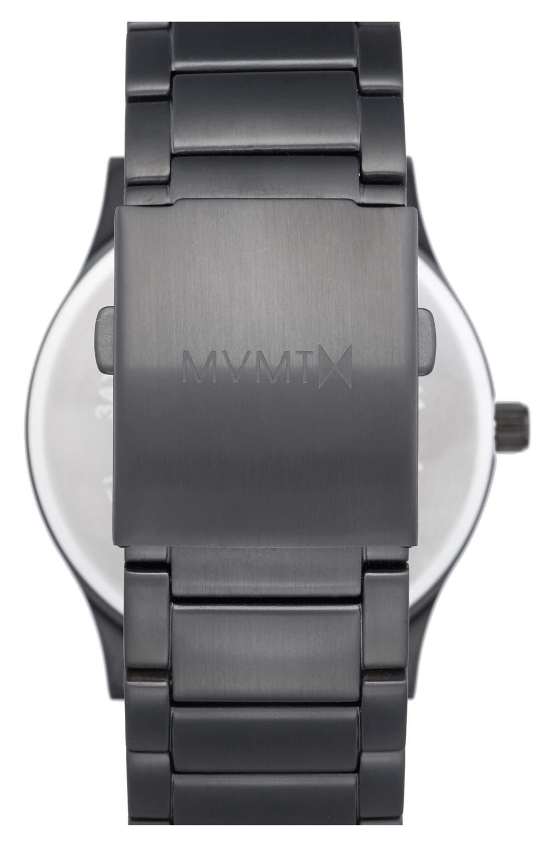 Bracelet Watch, 45mm,                             Alternate thumbnail 2, color,                             BLACK/ BLACK