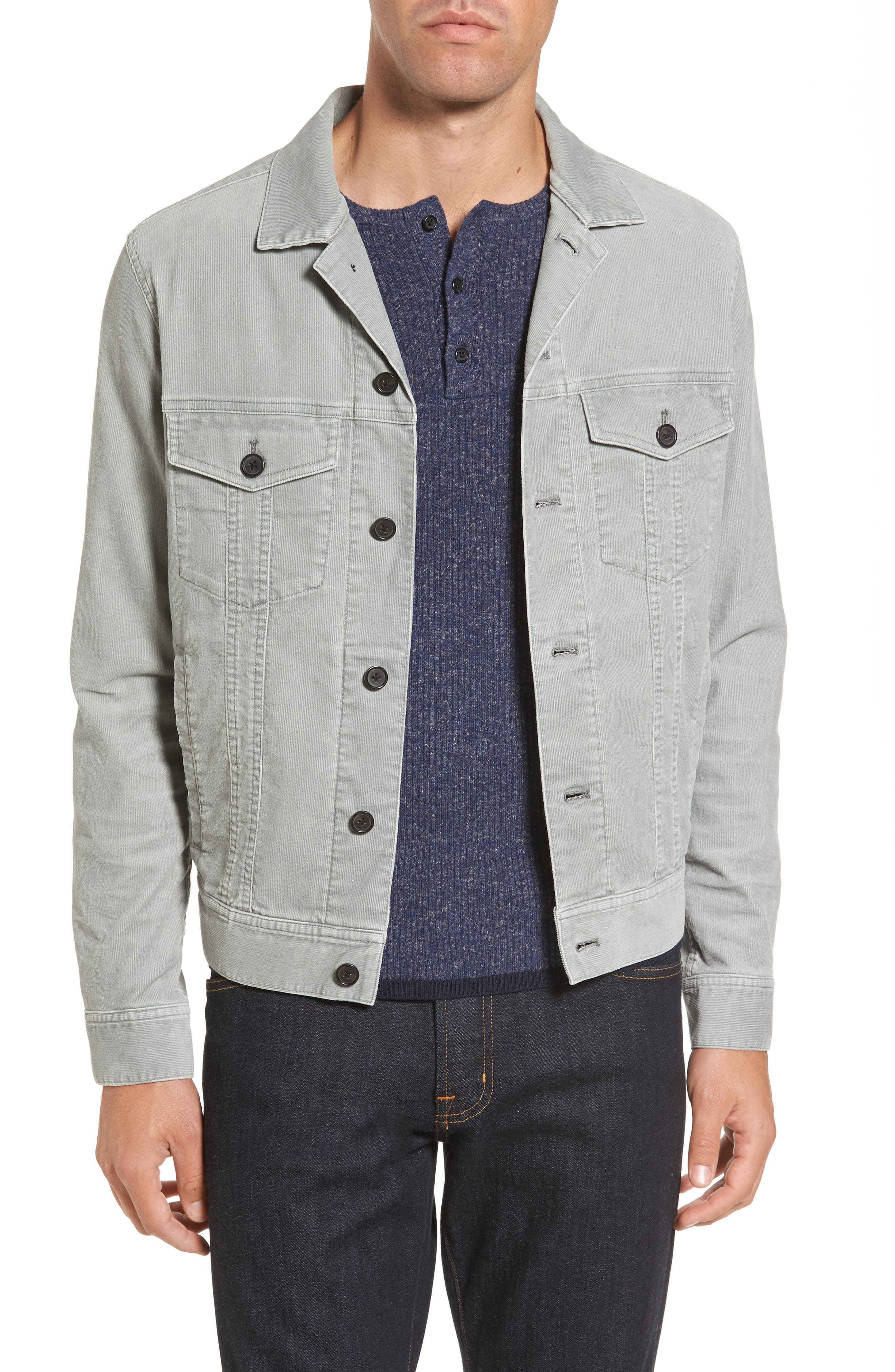 Pigment Dyed Stretch Corduroy Jacket,                             Main thumbnail 1, color,