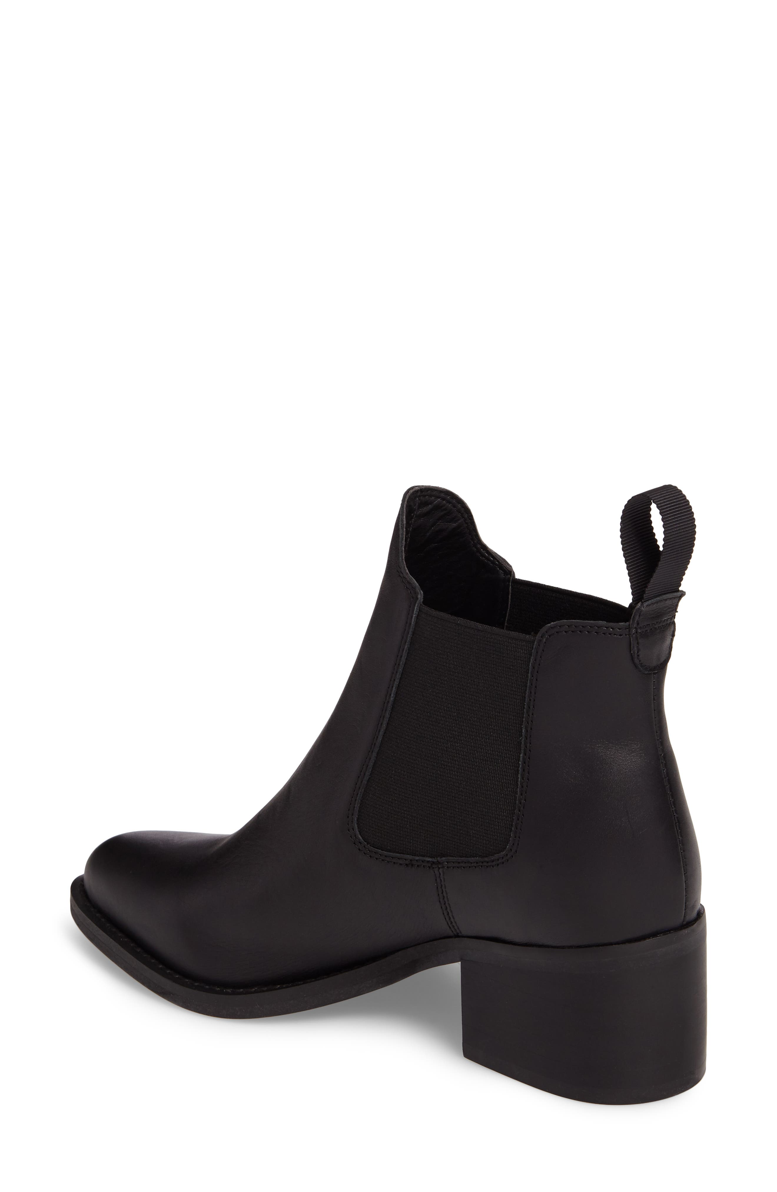 Fraya Ankle Bootie,                             Alternate thumbnail 2, color,                             BLACK LEATHER