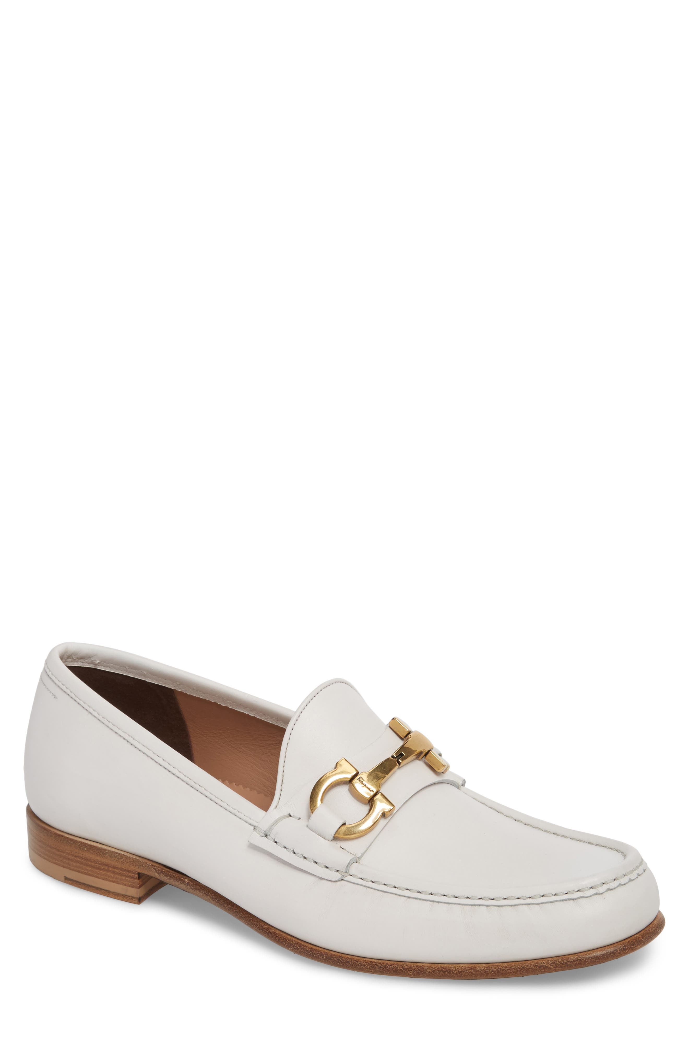Bond Bitted Moc Loafer,                             Main thumbnail 1, color,                             BIANCO LEATHER