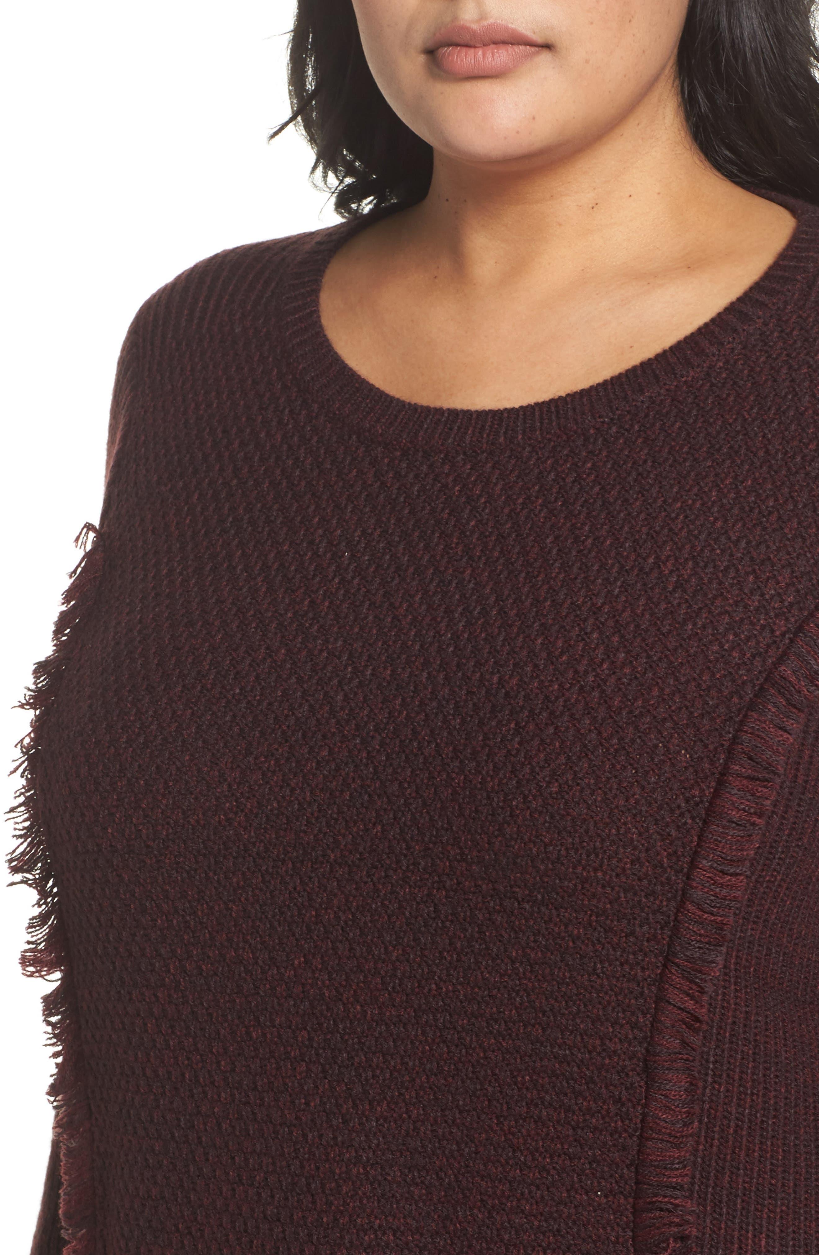 Sophia Layered Look Sweater,                             Alternate thumbnail 4, color,                             606