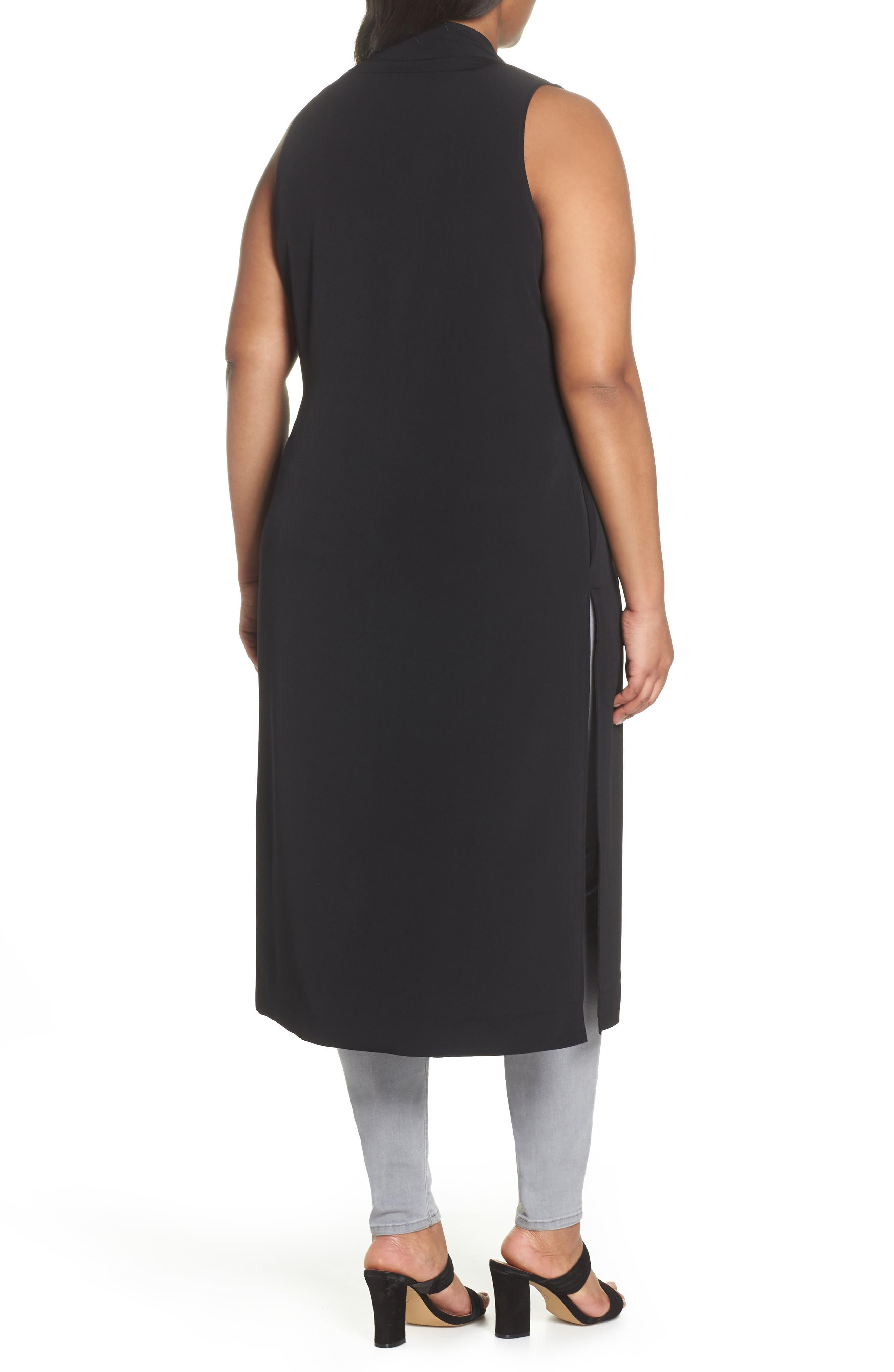 Duster Vest,                             Alternate thumbnail 2, color,                             BLACK