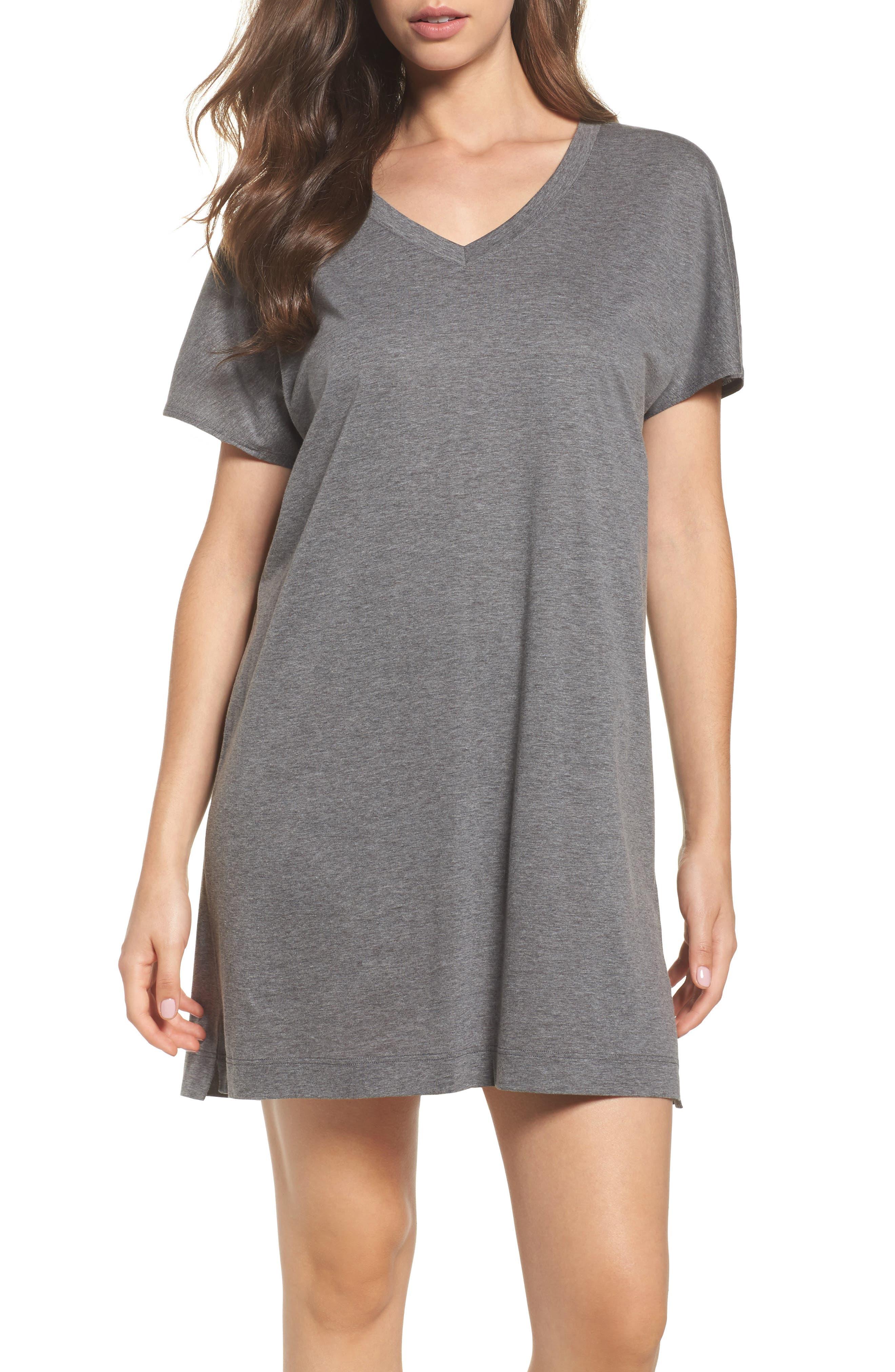 Laura Jersey Sleep Shirt,                         Main,                         color, 020