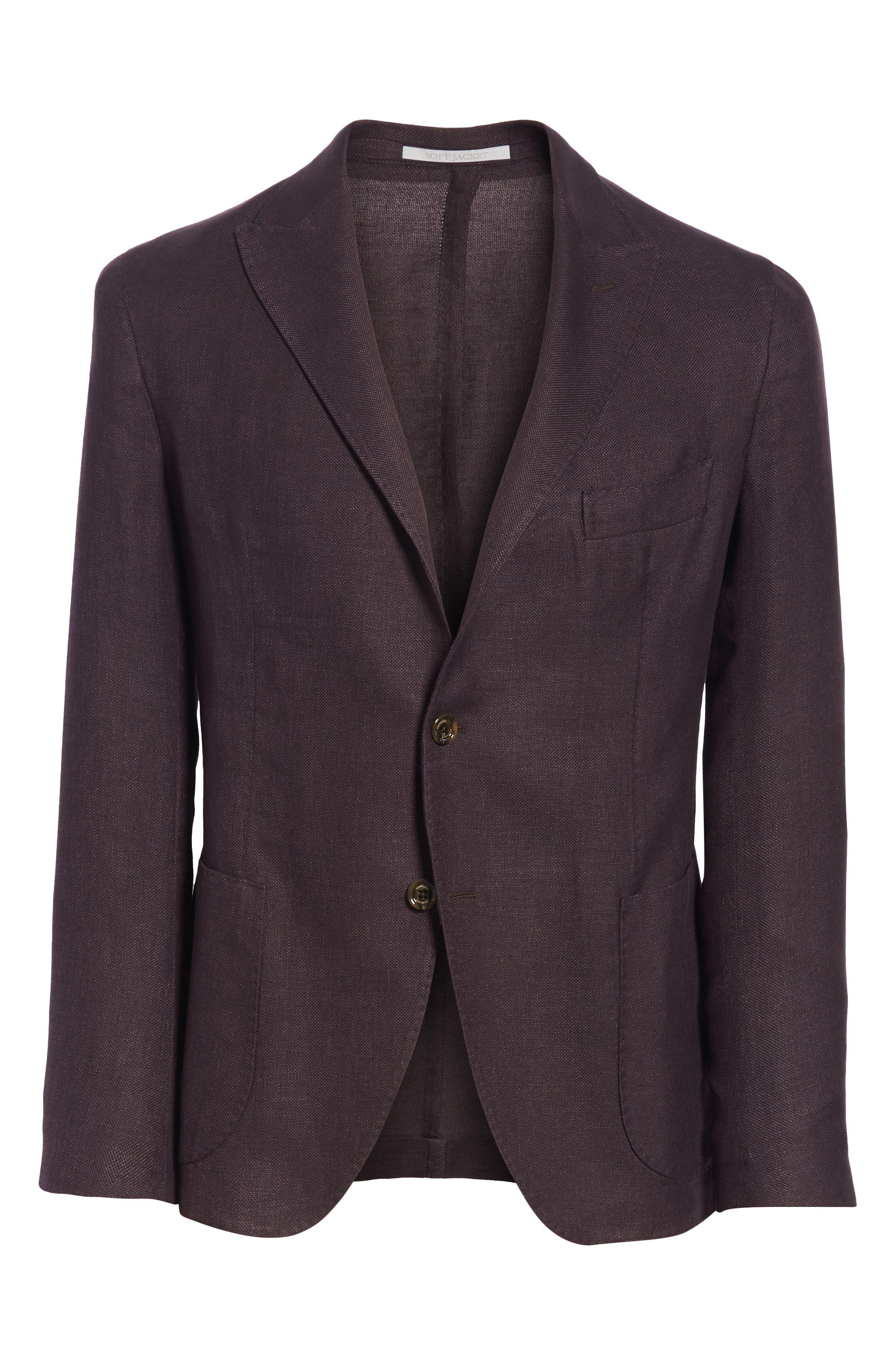 Trim Fit Linen Blend Blazer,                             Alternate thumbnail 5, color,                             500