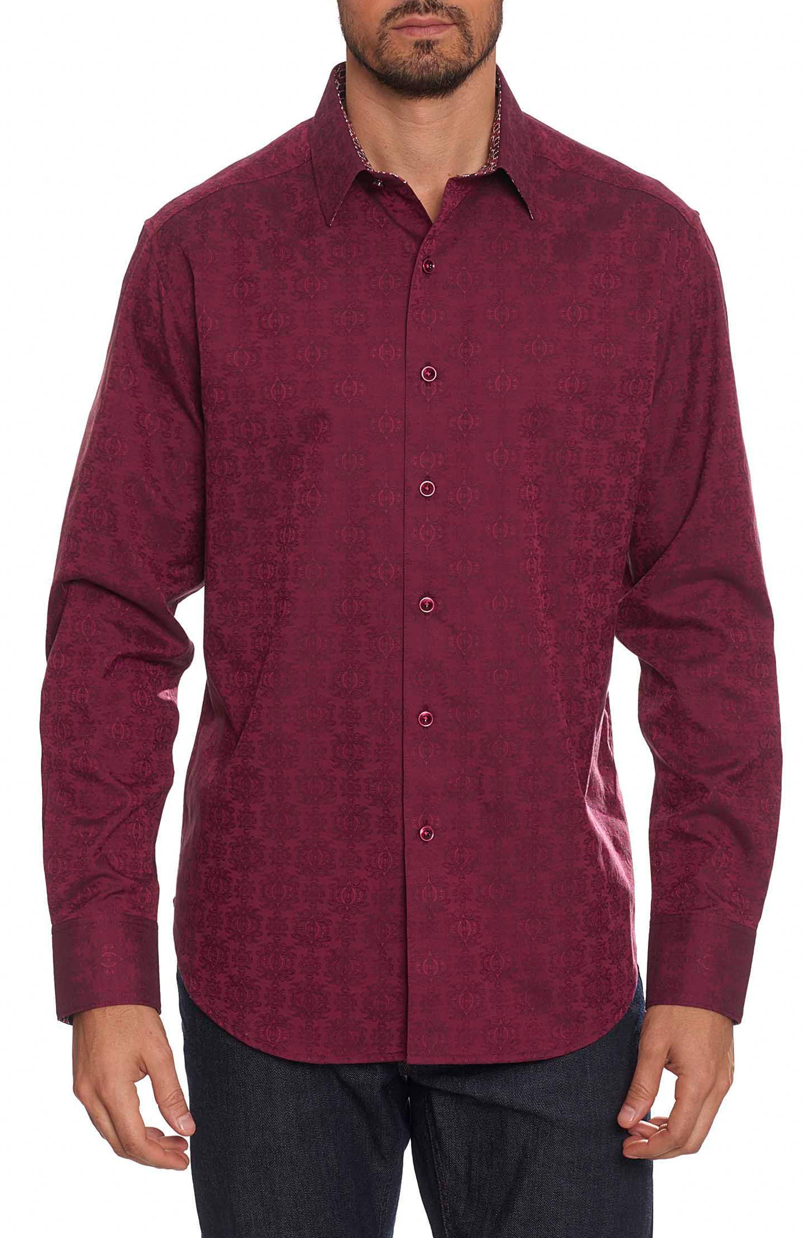 Cullen Classic Fit Jacquard Sport Shirt,                             Main thumbnail 1, color,