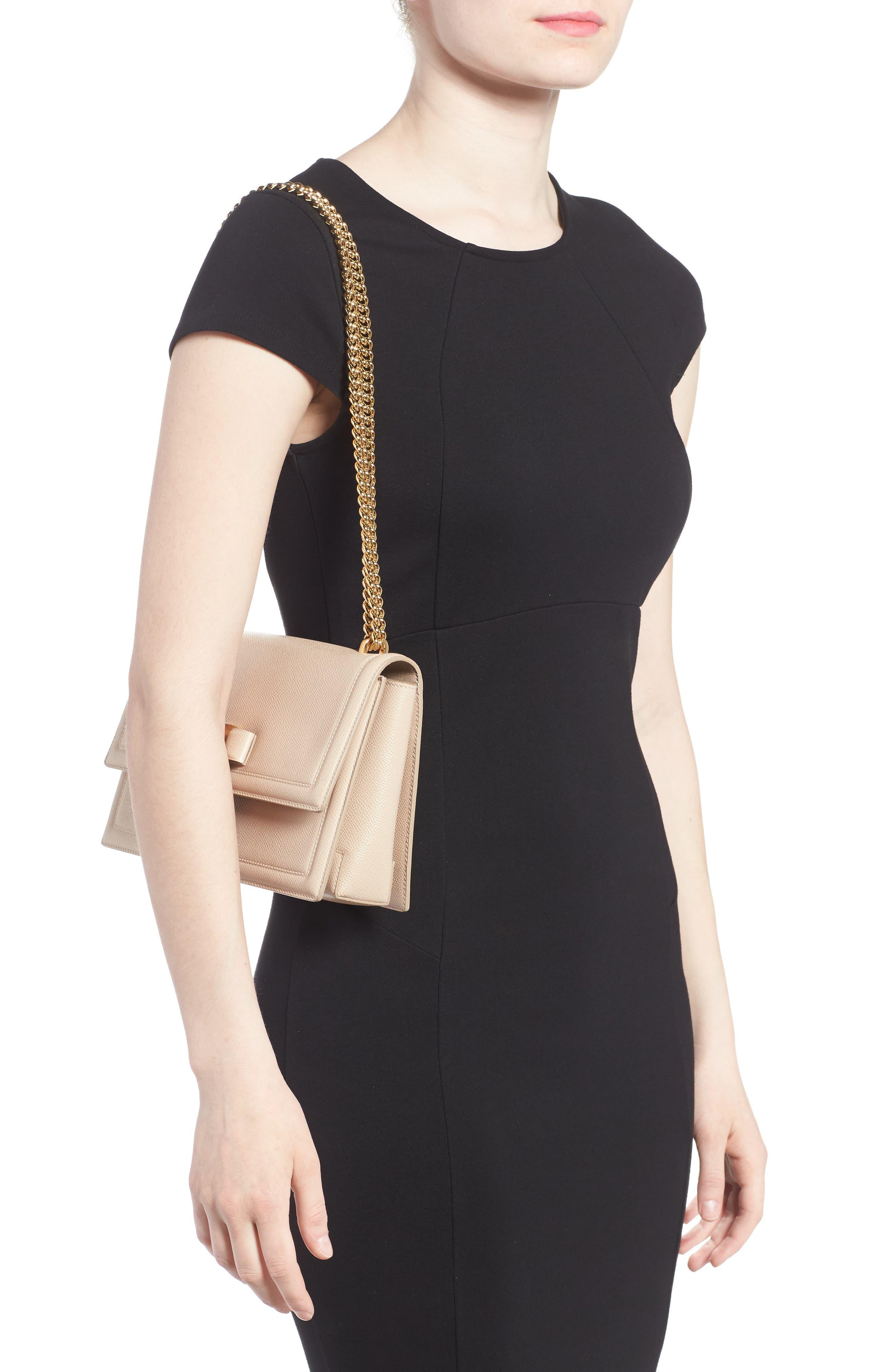 Medium Leather Shoulder Bag,                             Alternate thumbnail 2, color,