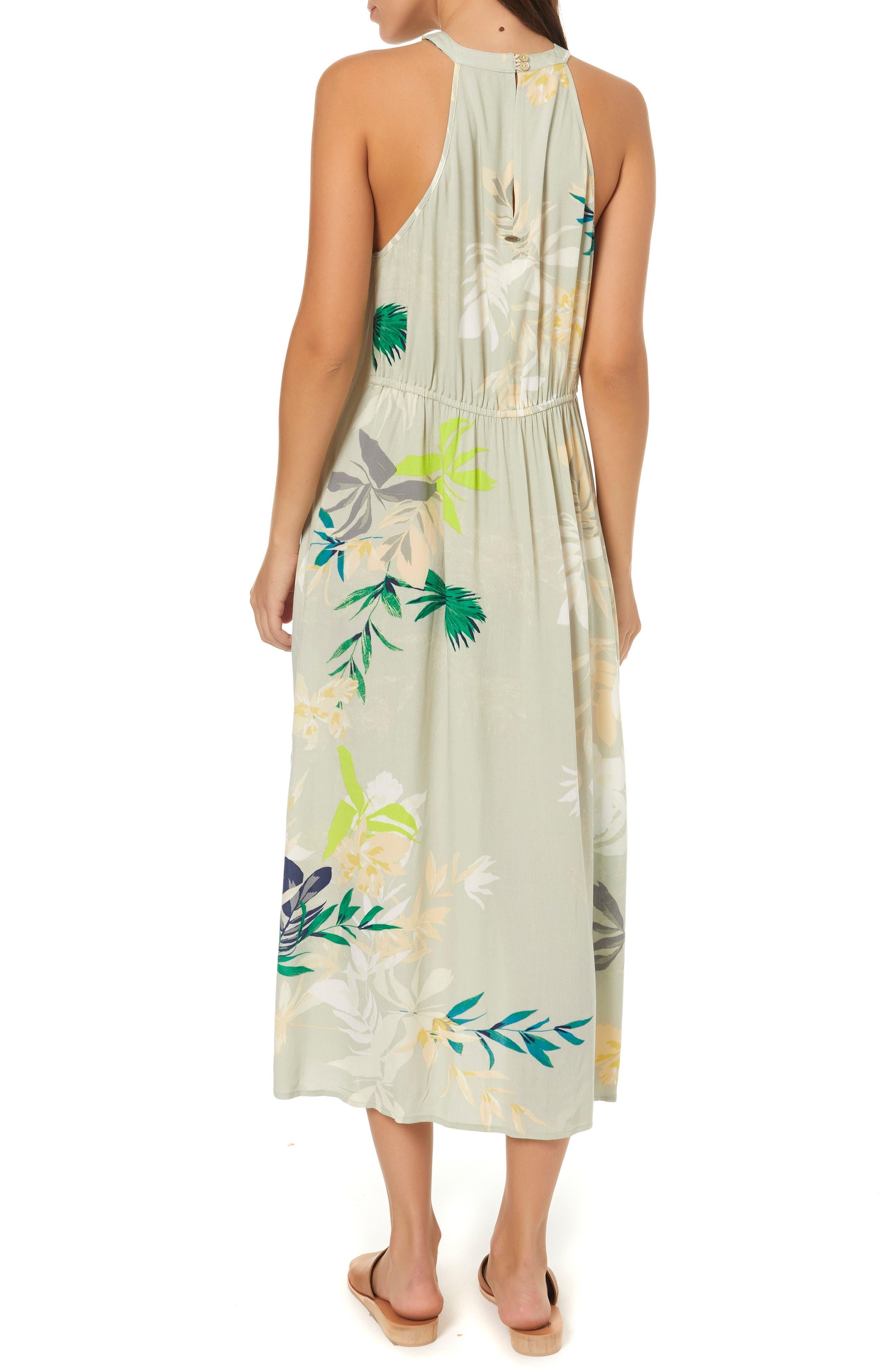 Byronne Floral Print Woven Midi Dress,                             Alternate thumbnail 2, color,                             MULTI COLORED