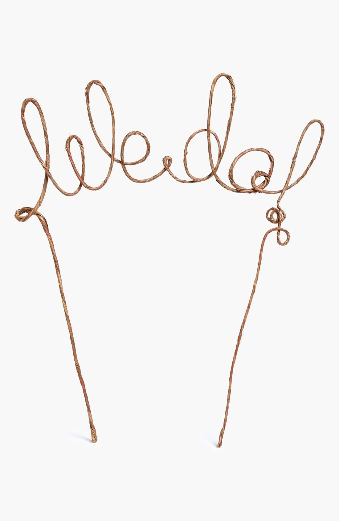 'We Do' Rustic Cake Topper,                             Alternate thumbnail 2, color,                             200