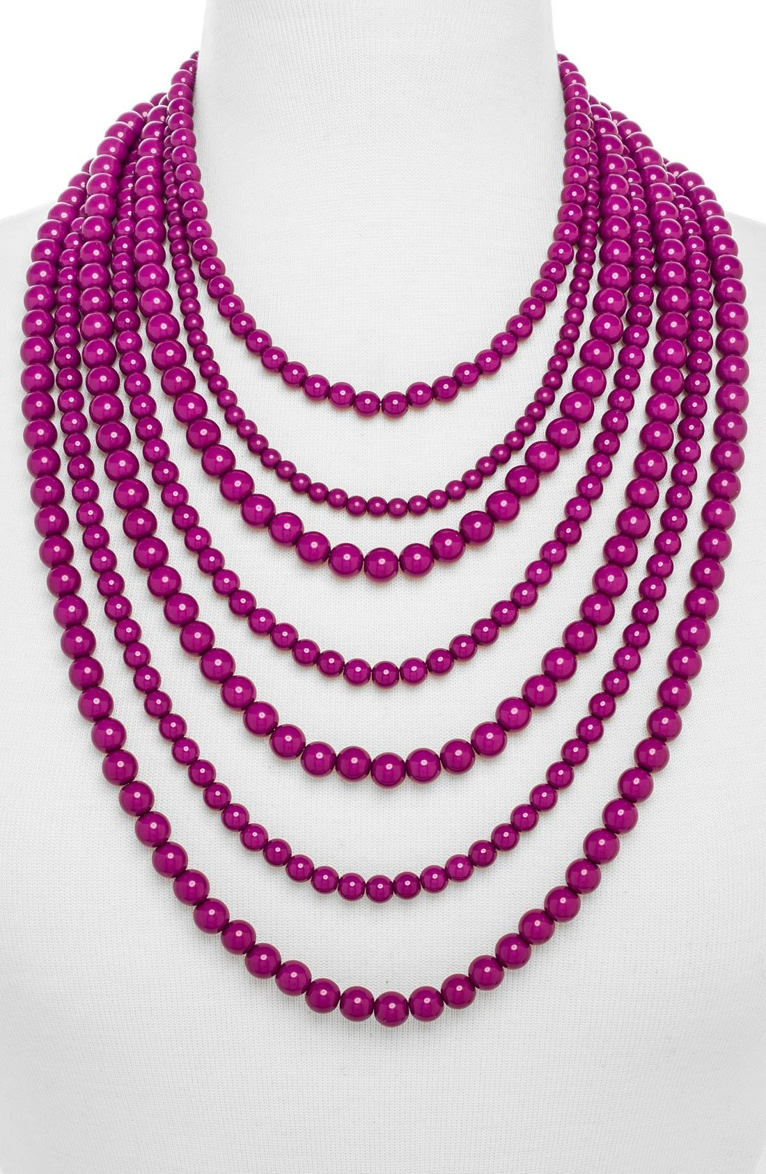 'Bold' Multistrand Beaded Statement Necklace,                             Main thumbnail 9, color,