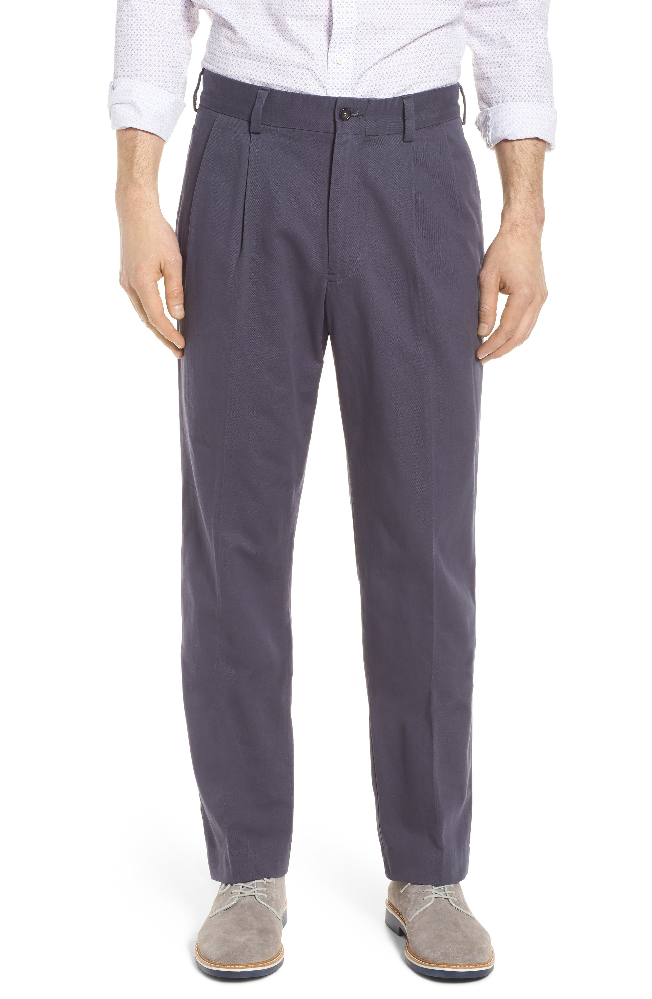 M2 Classic Fit Vintage Twill Pleated Pants,                             Main thumbnail 1, color,                             410