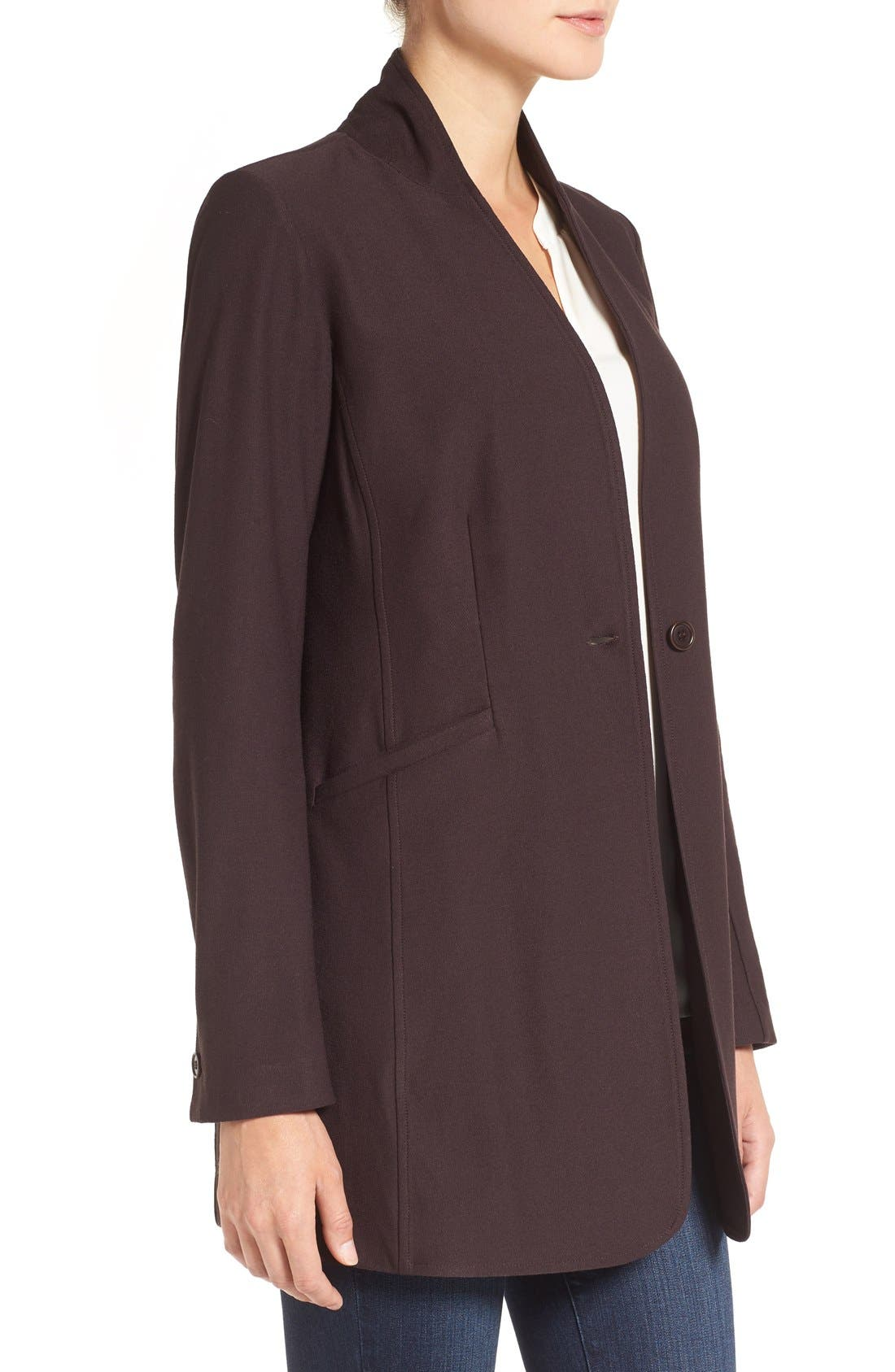 Washable Stretch Crepe Stand Collar Jacket,                             Alternate thumbnail 11, color,