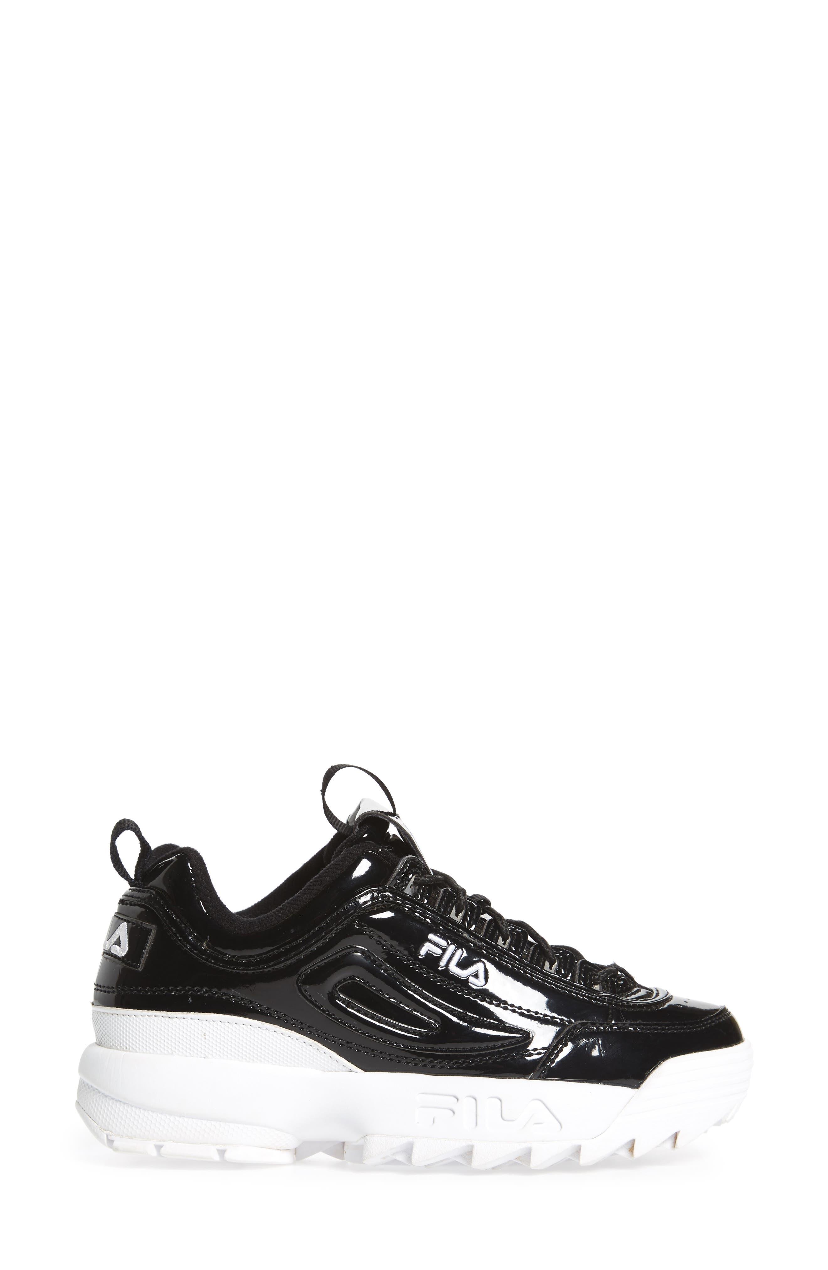Disruptor II Premium Patent Sneaker,                             Alternate thumbnail 3, color,                             014