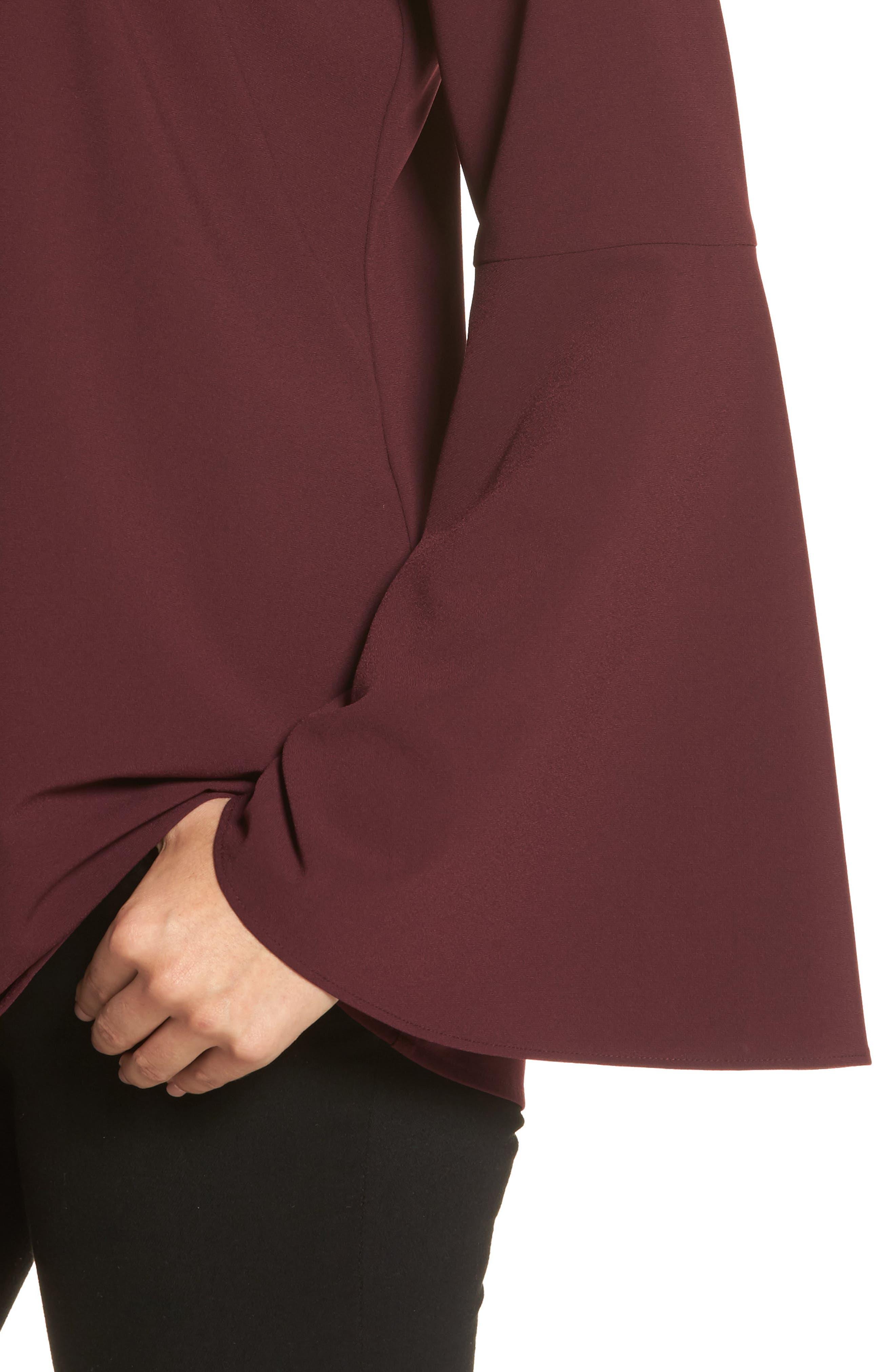 Bow Back Flare Sleeve Tunic,                             Alternate thumbnail 17, color,
