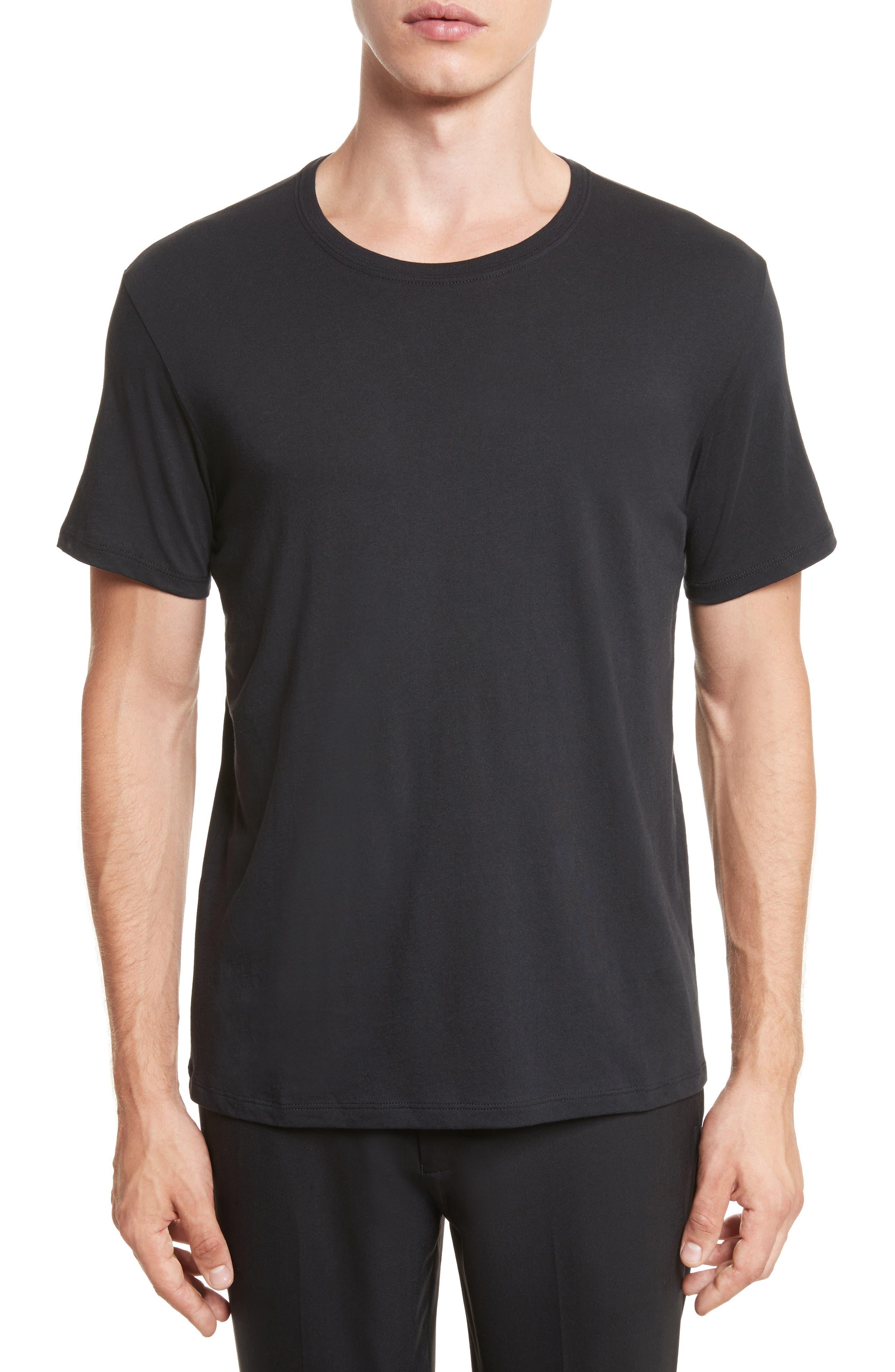 Cotton Jersey T-Shirt,                             Alternate thumbnail 2, color,                             001