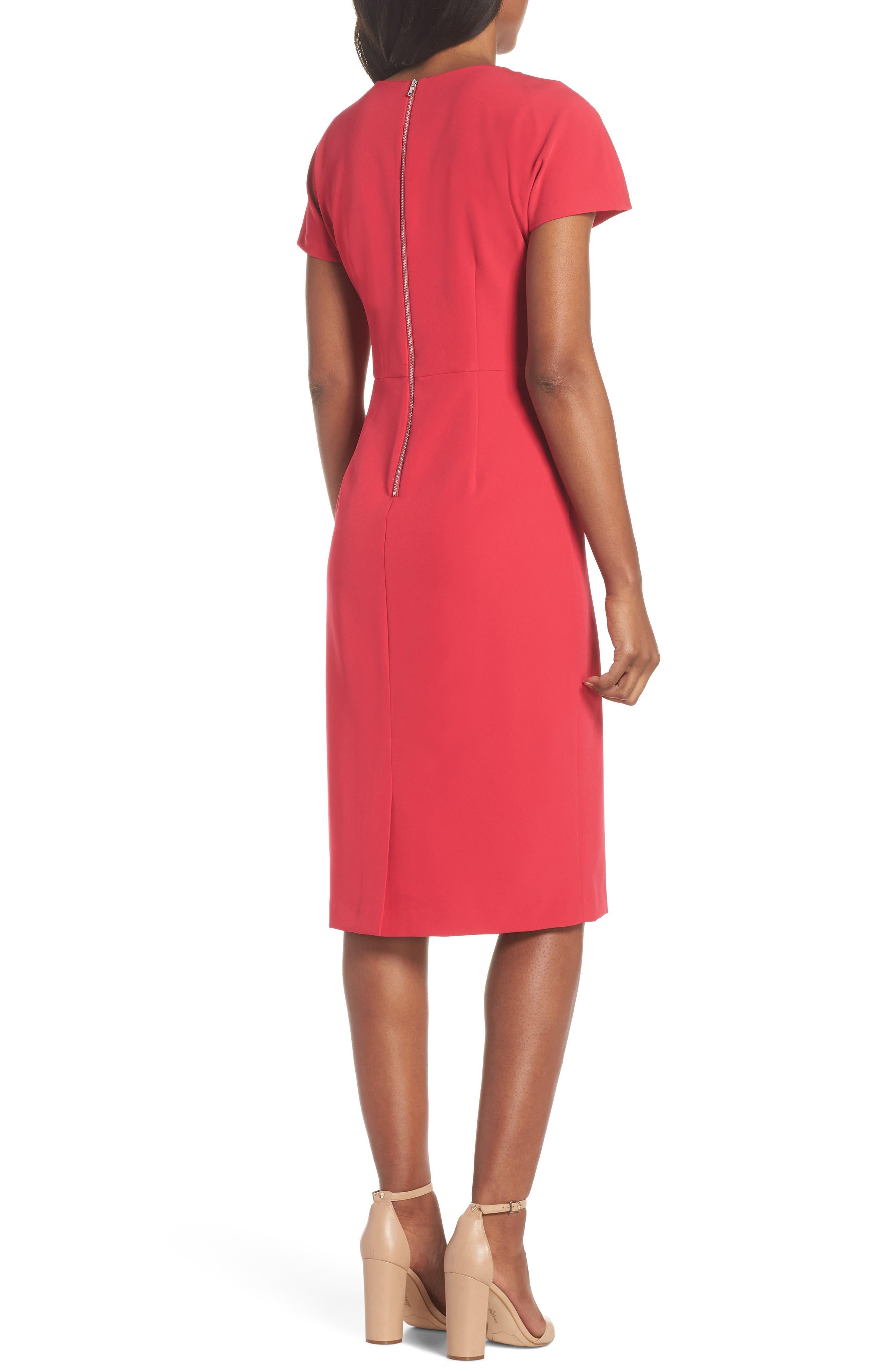Scallop Sheath Dress,                             Alternate thumbnail 2, color,                             650