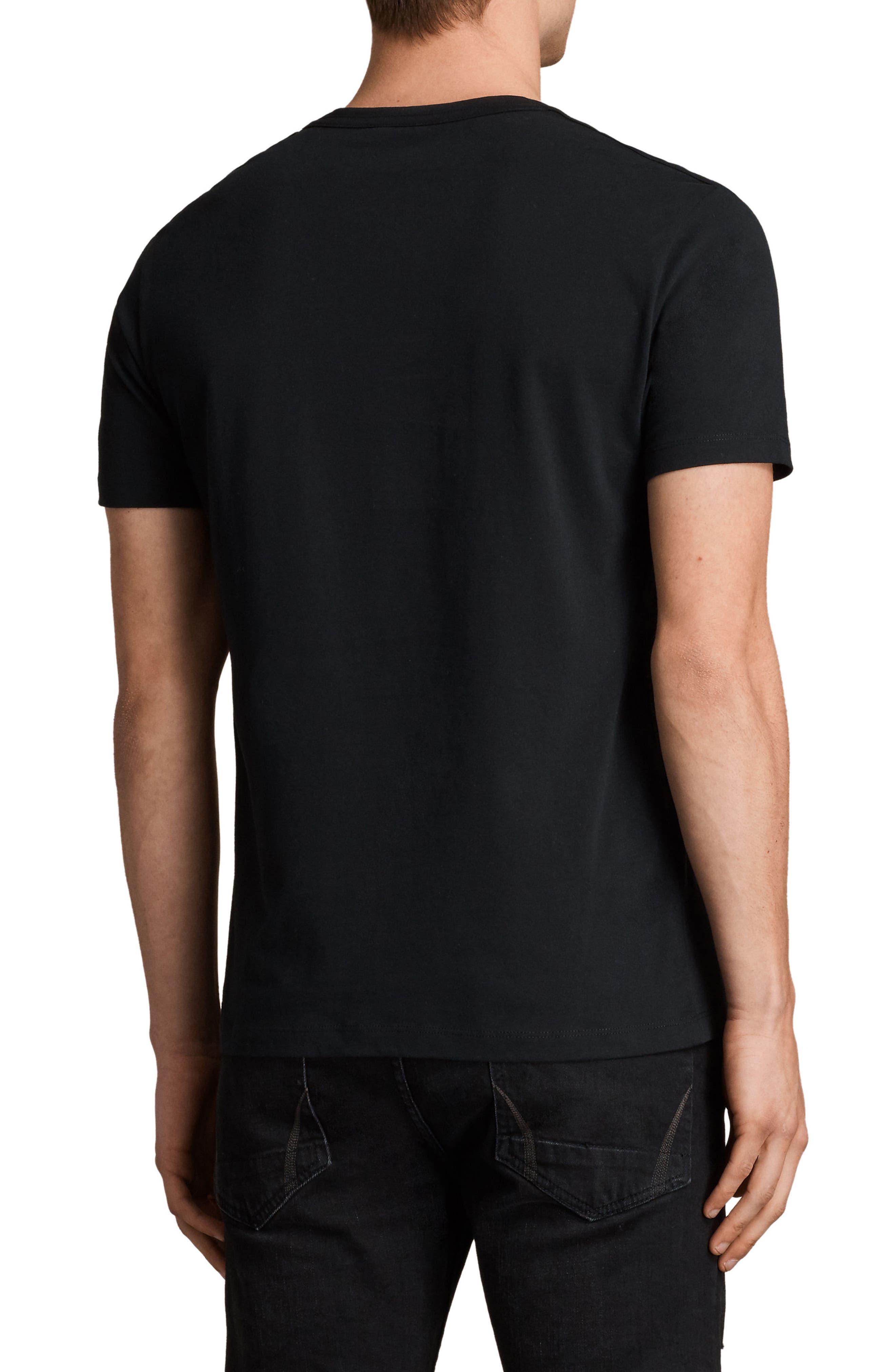 Brace Tonic Slim Fit Crewneck T-Shirt,                             Alternate thumbnail 2, color,                             JET BLACK