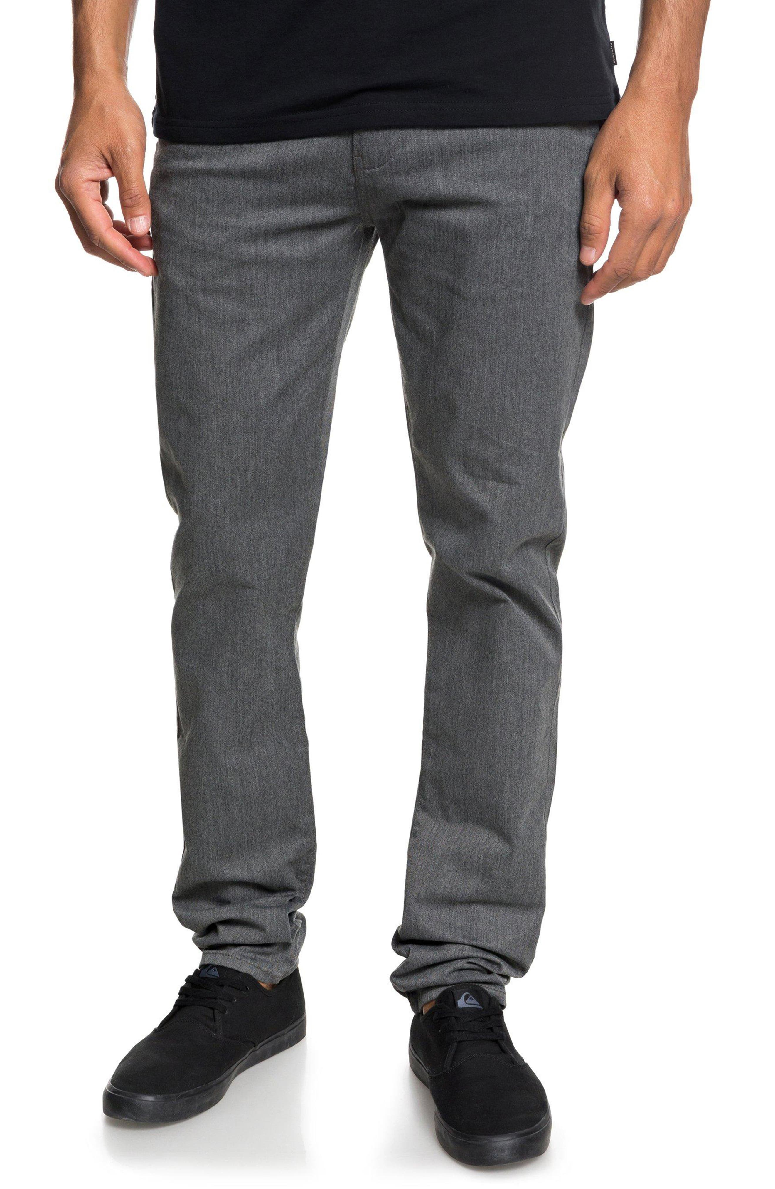 New Everyday Union Straight Pants,                         Main,                         color, DARK GREY HEATHER