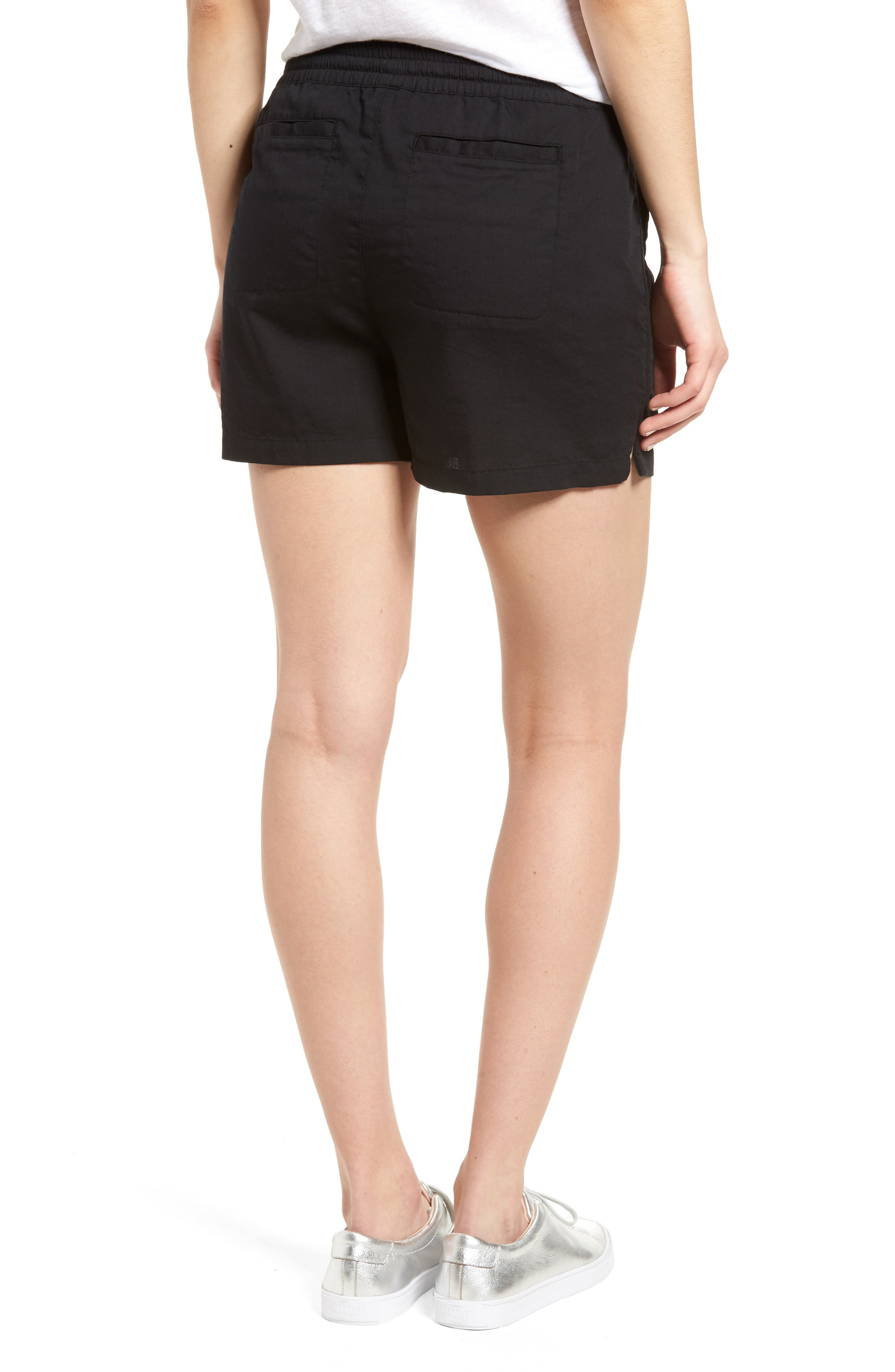 Pull-On Twill Shorts,                             Alternate thumbnail 2, color,                             001