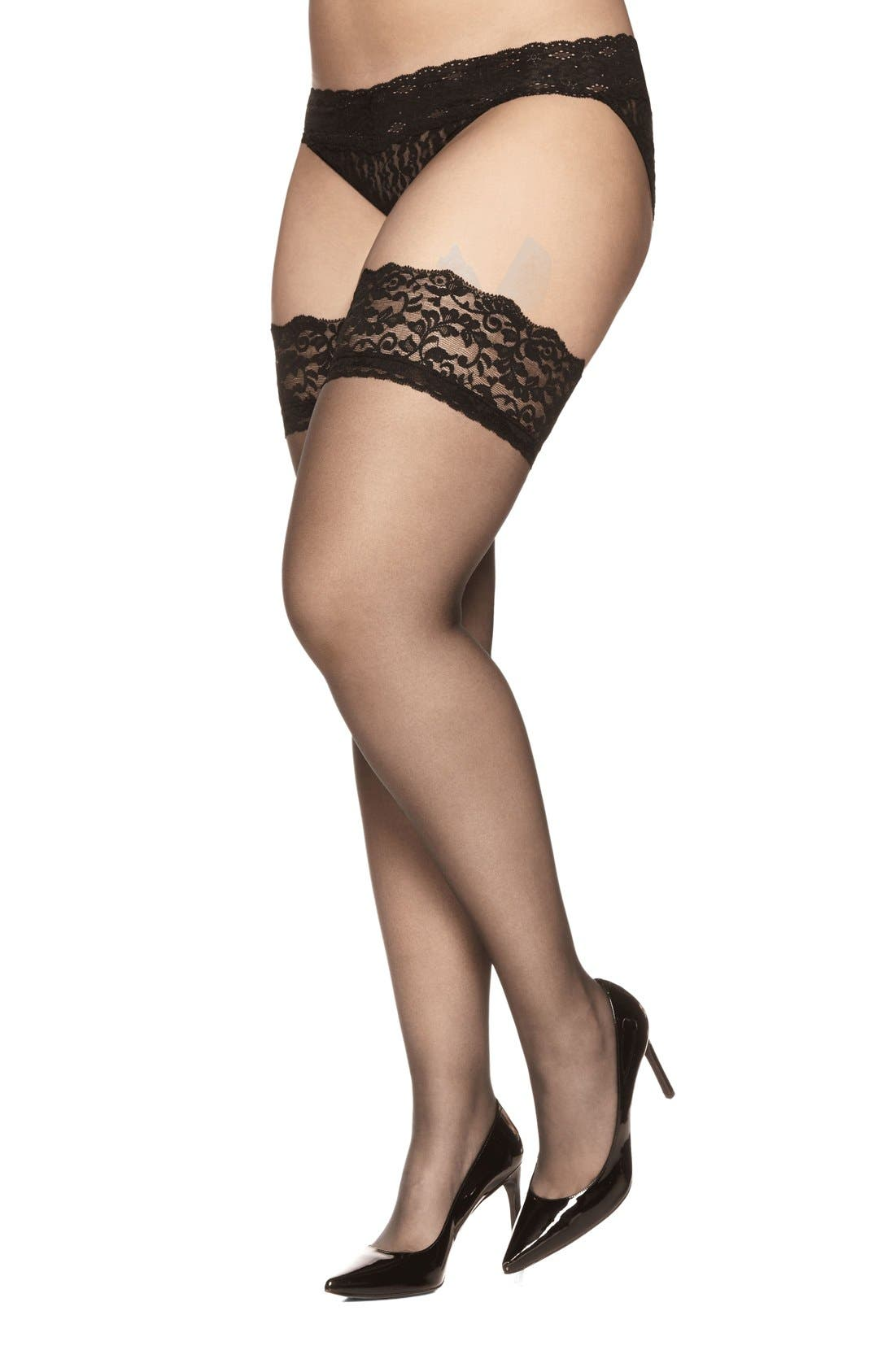 Stay-Up Stockings,                         Main,                         color, FANTASY BLACK