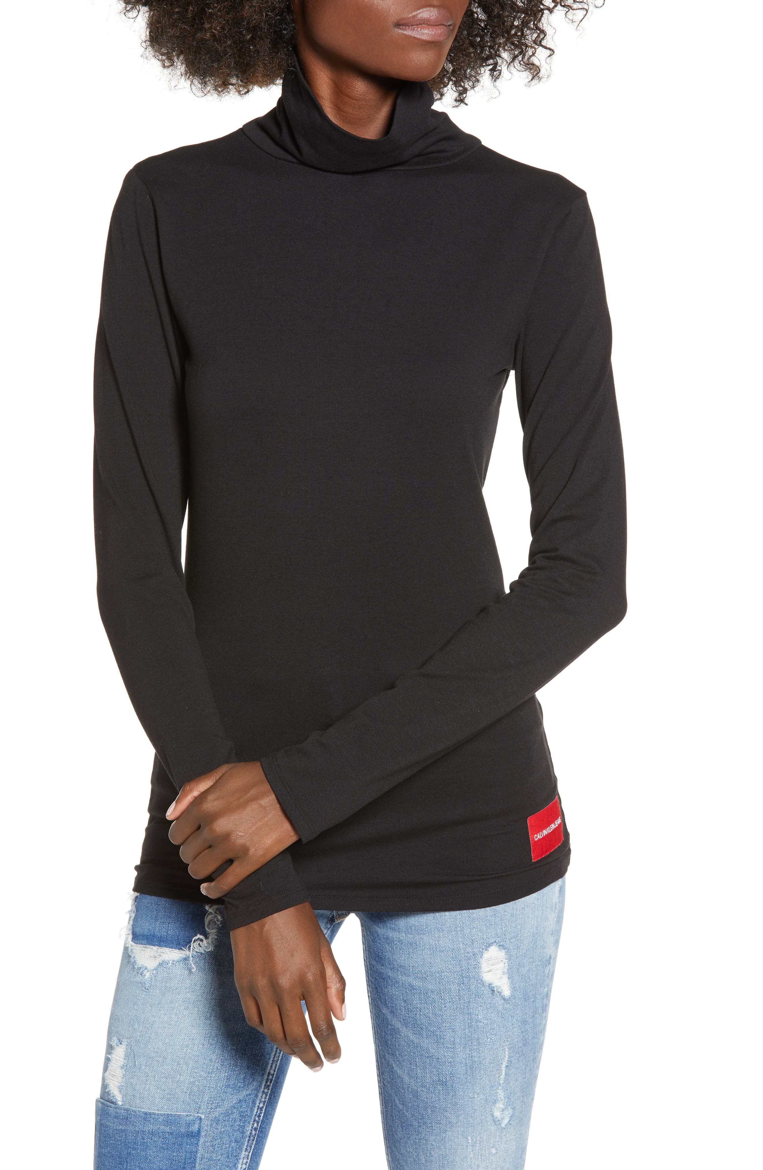 Turtleneck,                         Main,                         color, BLACK