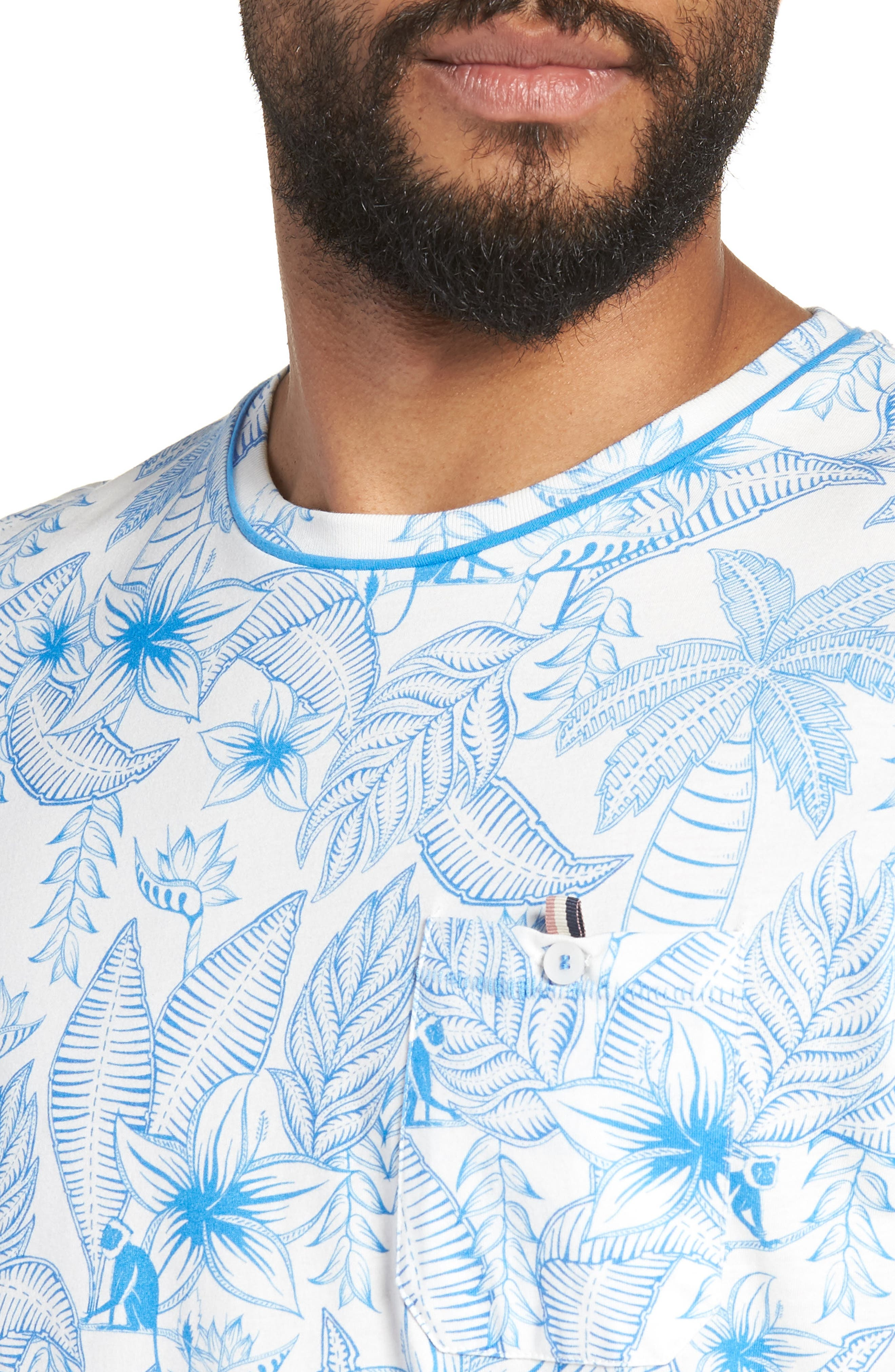 Bengel Crewneck T-Shirt,                             Alternate thumbnail 4, color,                             BRIGHT BLUE