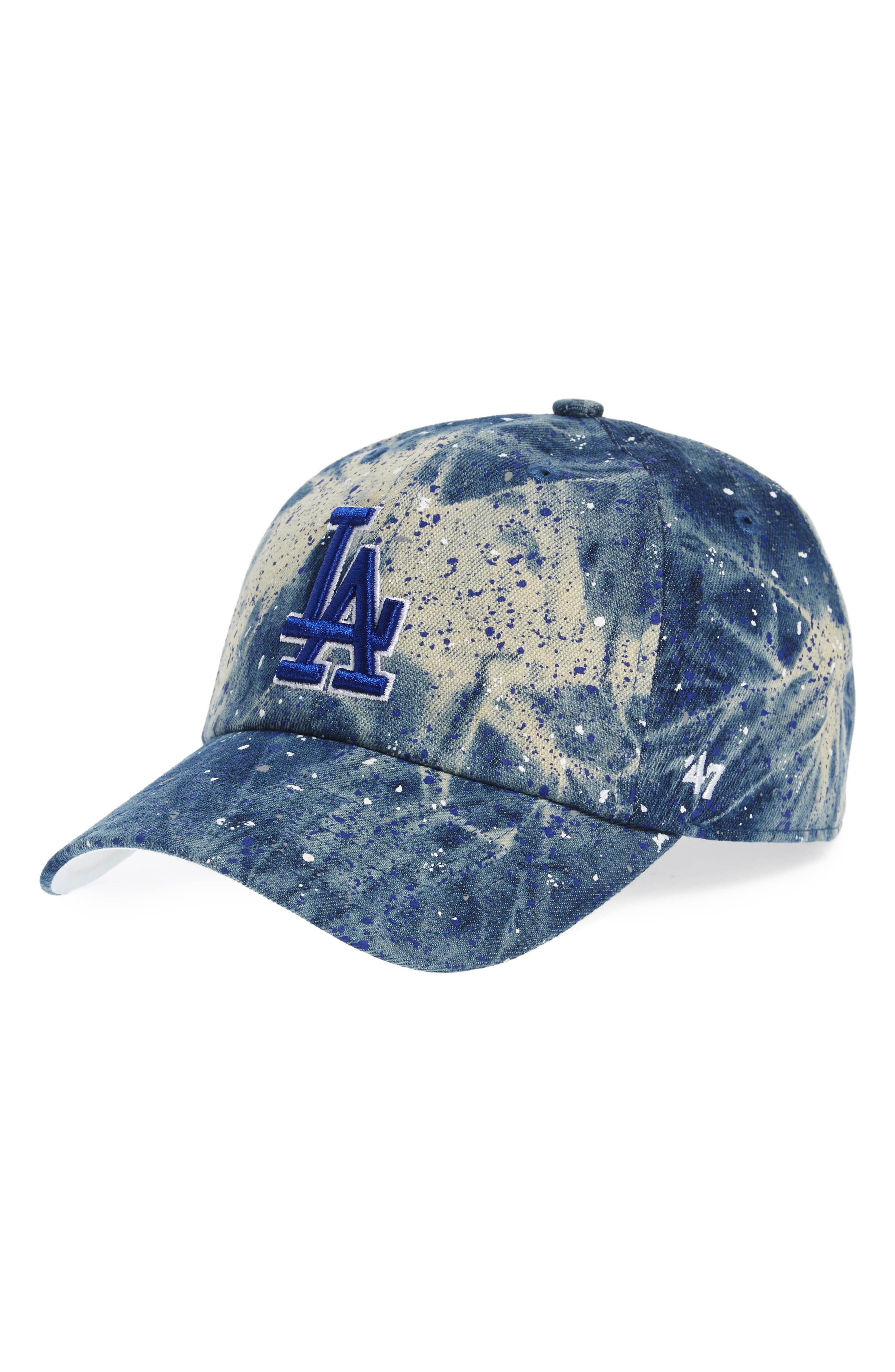 Los Angeles Dodgers - Blue Splatter Baseball Cap,                         Main,                         color, 400