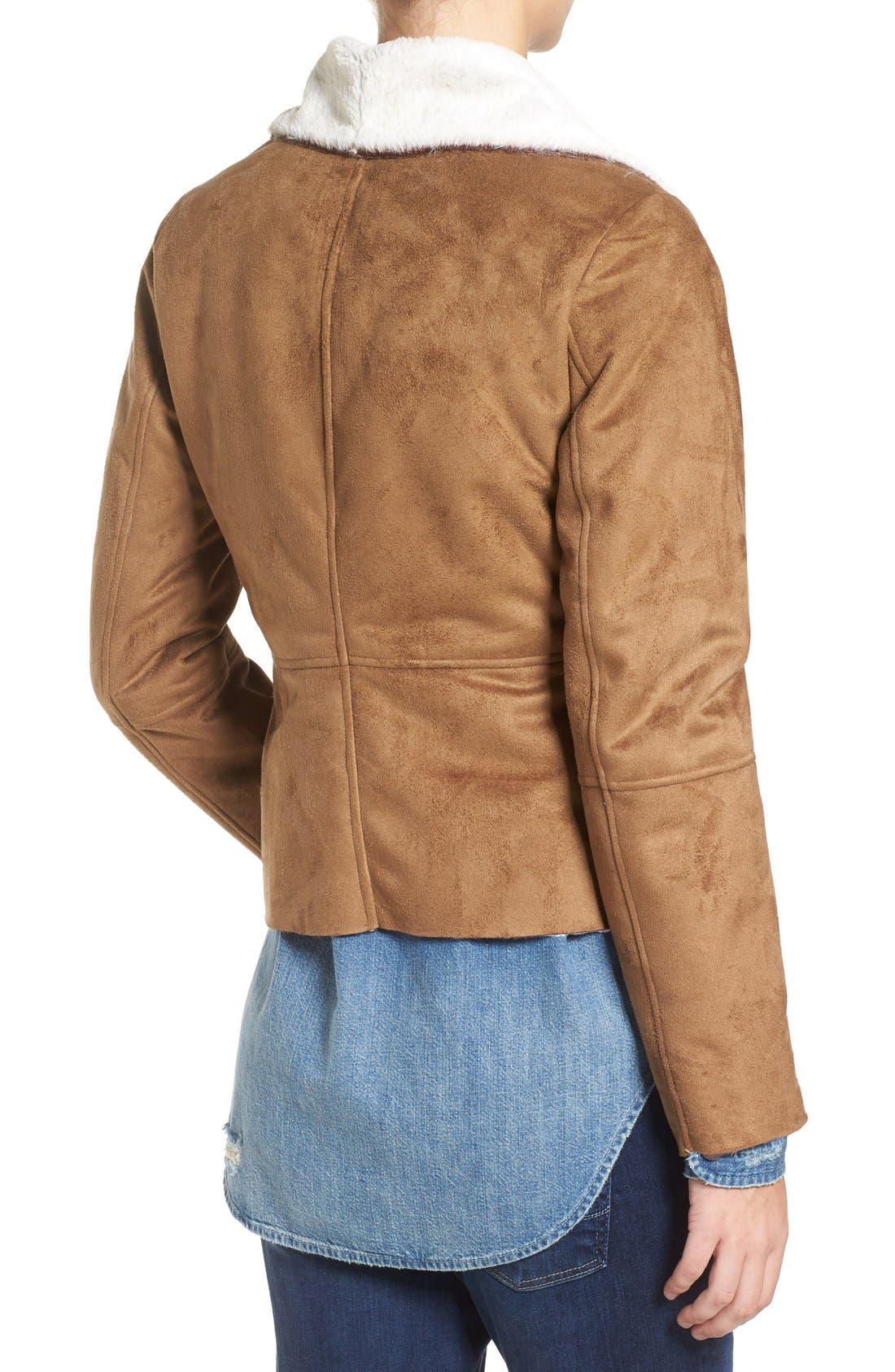Bourne Faux Shearling Jacket,                             Alternate thumbnail 2, color,                             257