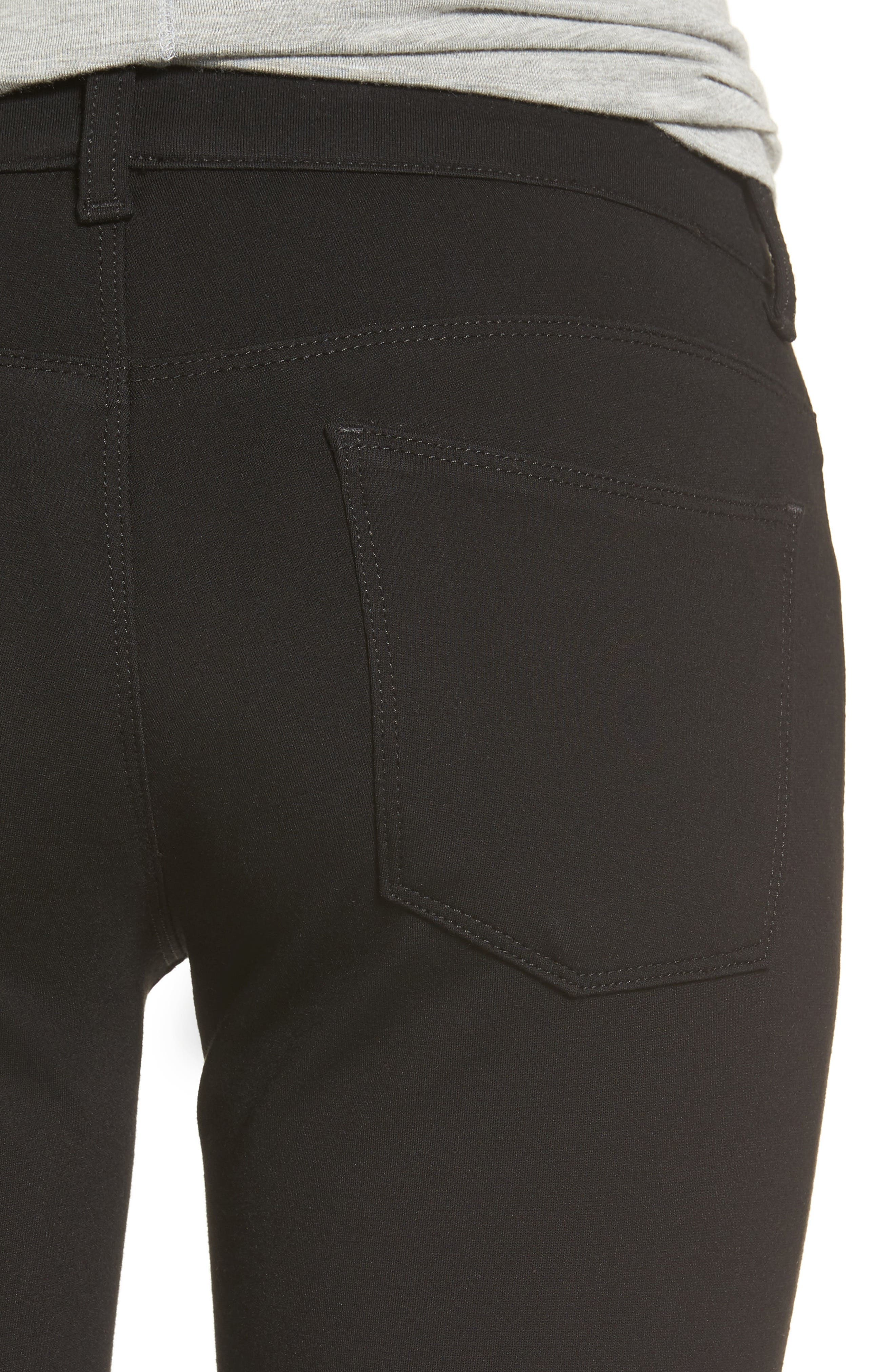 Donna Ponte Knit Skinny Jeans,                             Alternate thumbnail 4, color,                             002
