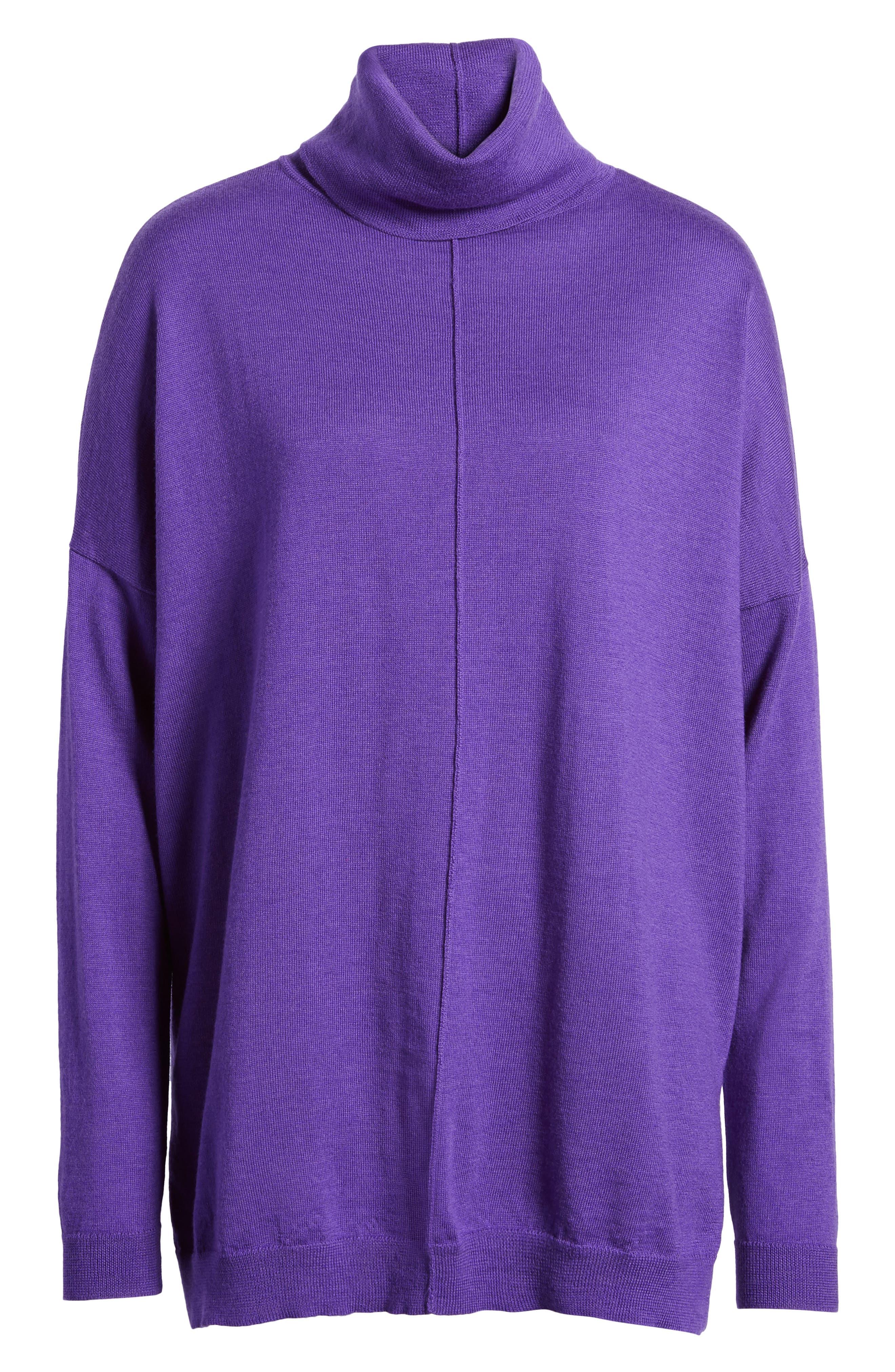 Merino Wool Boxy Turtleneck Sweater,                             Alternate thumbnail 35, color,