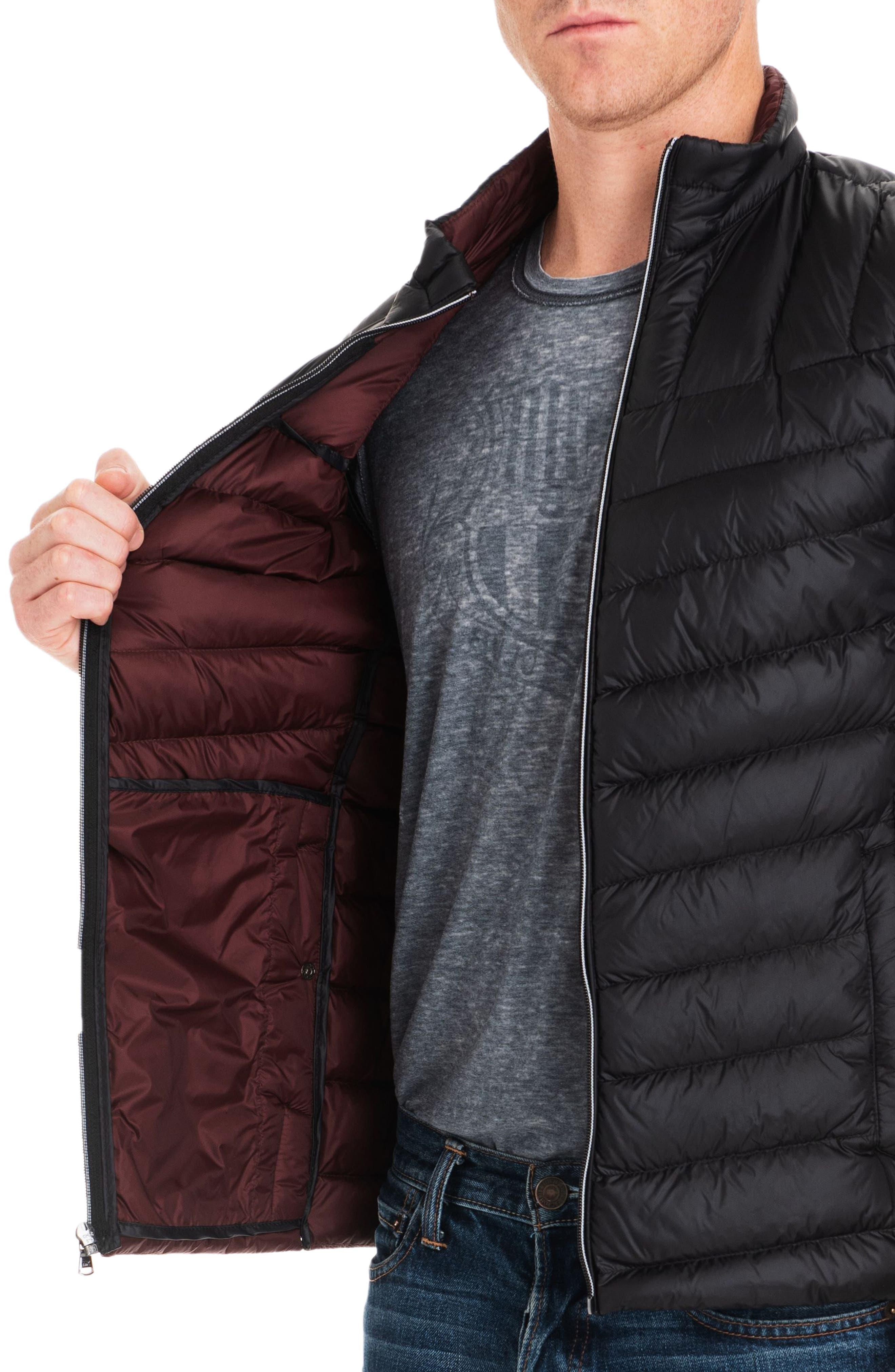 Hammond Quilted Vest,                             Alternate thumbnail 4, color,                             BLACK